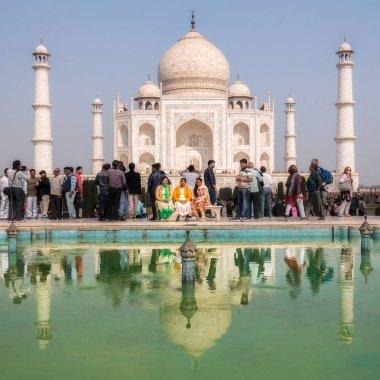Tourists at Taj Mahal, Agra, Uttar Pradesh, India