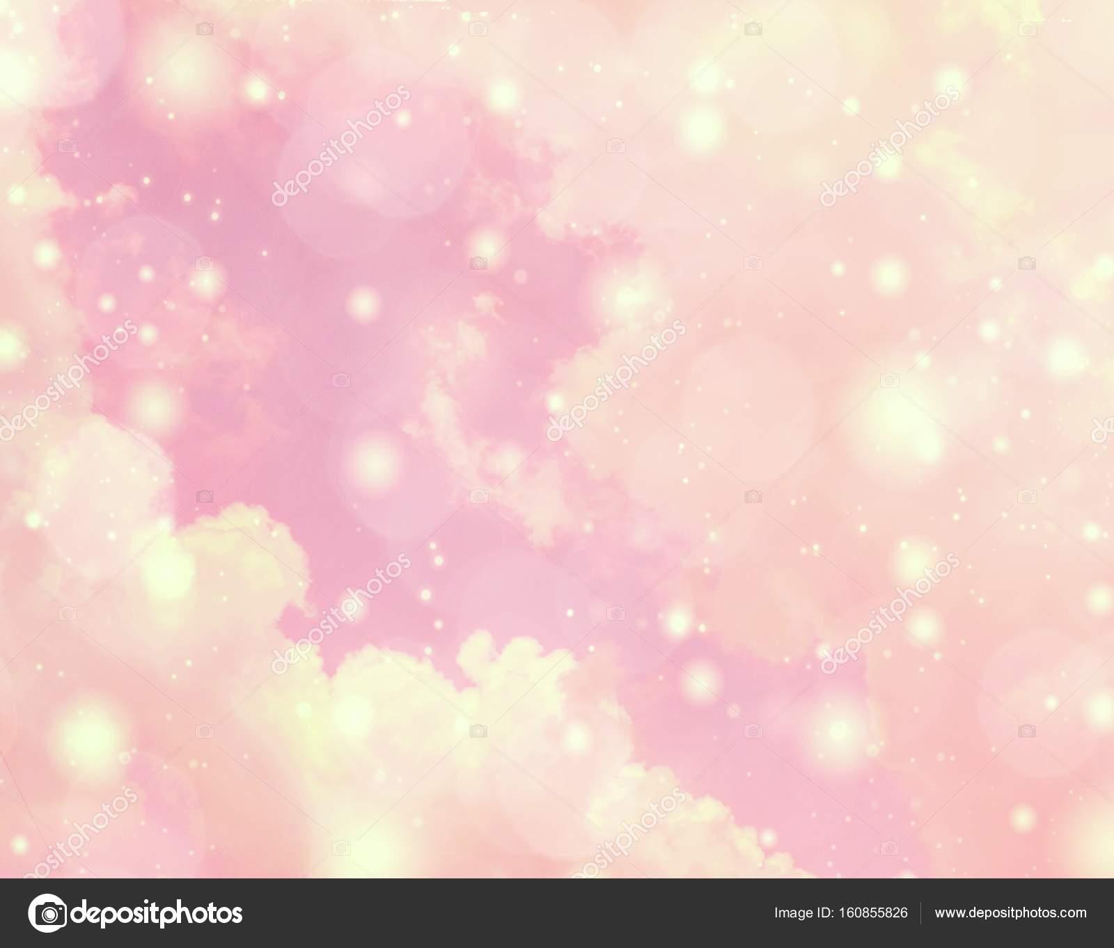 Defocused dreamy background spectrum of bright pastel