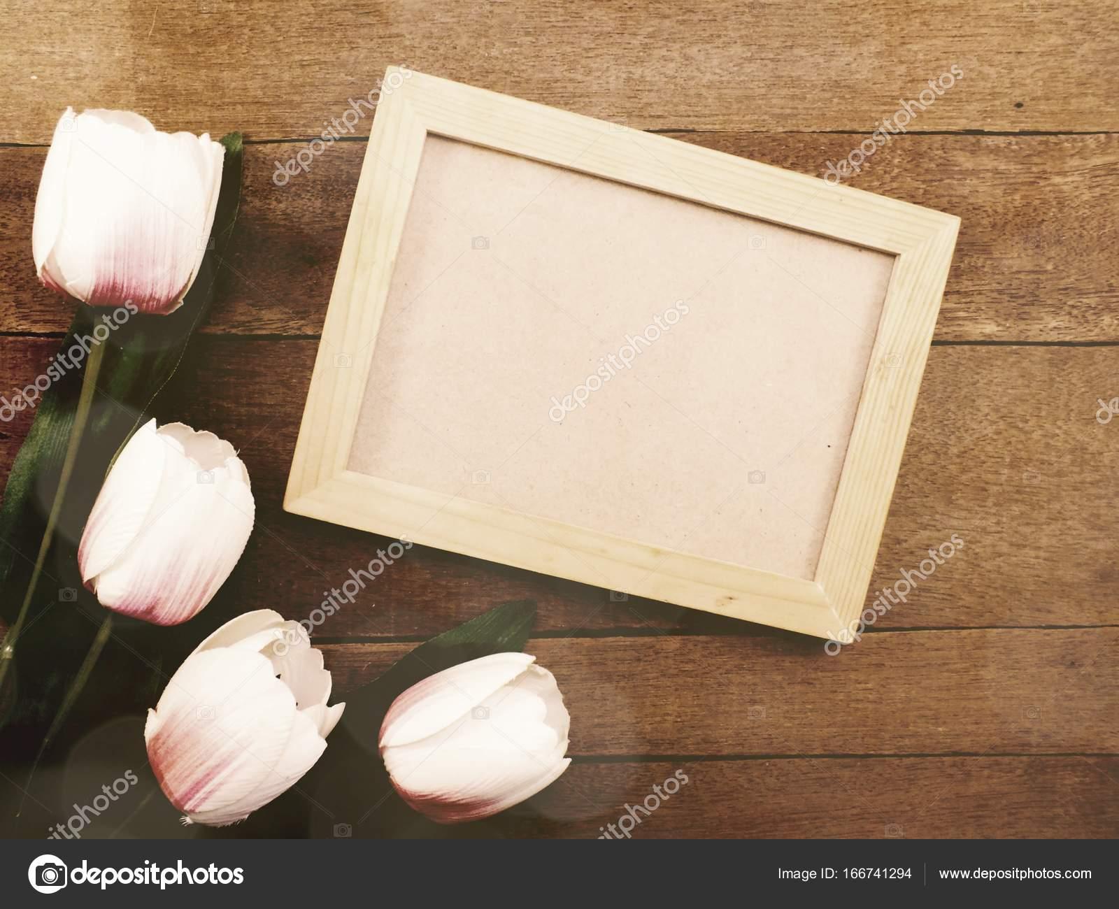 Fondo Del Espacio Fotos De Madera Marcos Decorar Con Flores