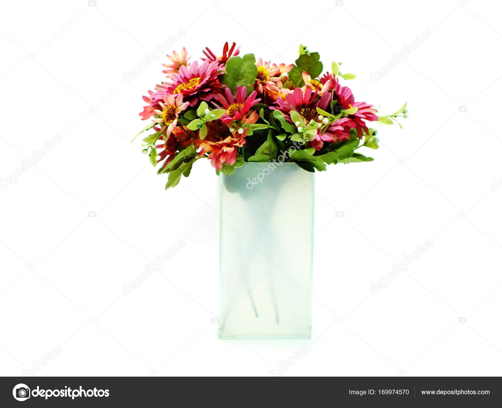 Artificial Daisy Flowers Bouquet Isolated On White Background