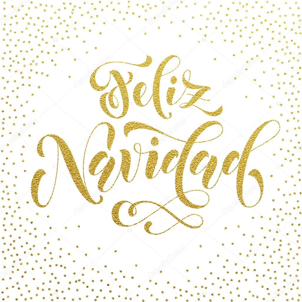 Feliz navidad gold glitter spanish merry christmas stock vector feliz navidad gold glitter modern lettering for spanish merry christmas greeting holiday card vector hand drawn festive text for banner poster kristyandbryce Images
