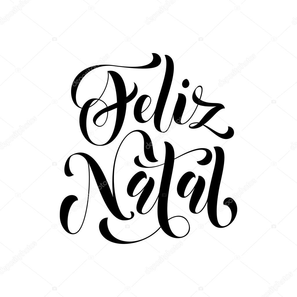 Feliz Navidad En Portugues Brasil.Feliz Natal Saludo Feliz Navidad Portuguesa Vector De
