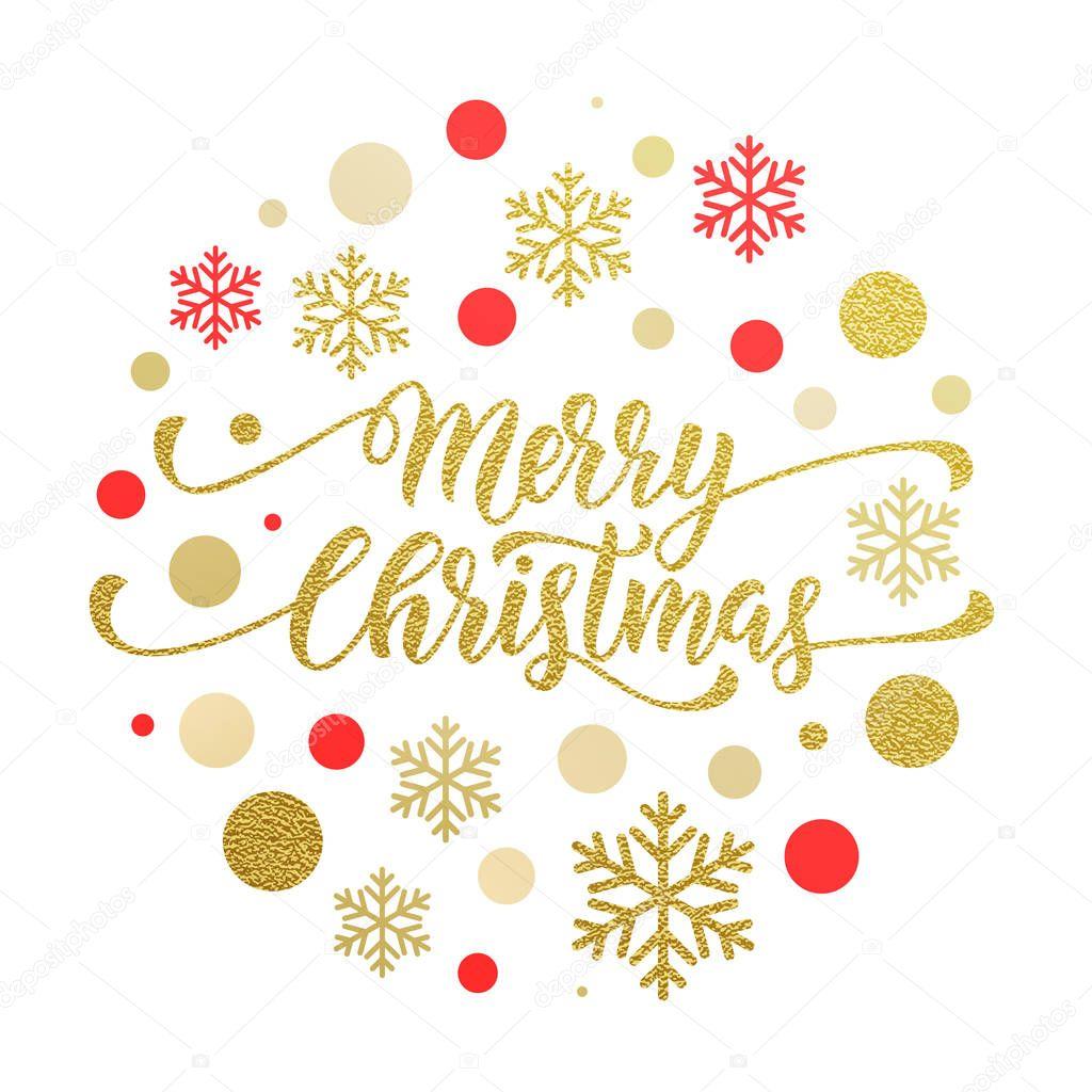 Frohe Weihnachten Glitzer.Frohe Weihnachten Gold Grußkarte Poster Glitzer Stockvektor