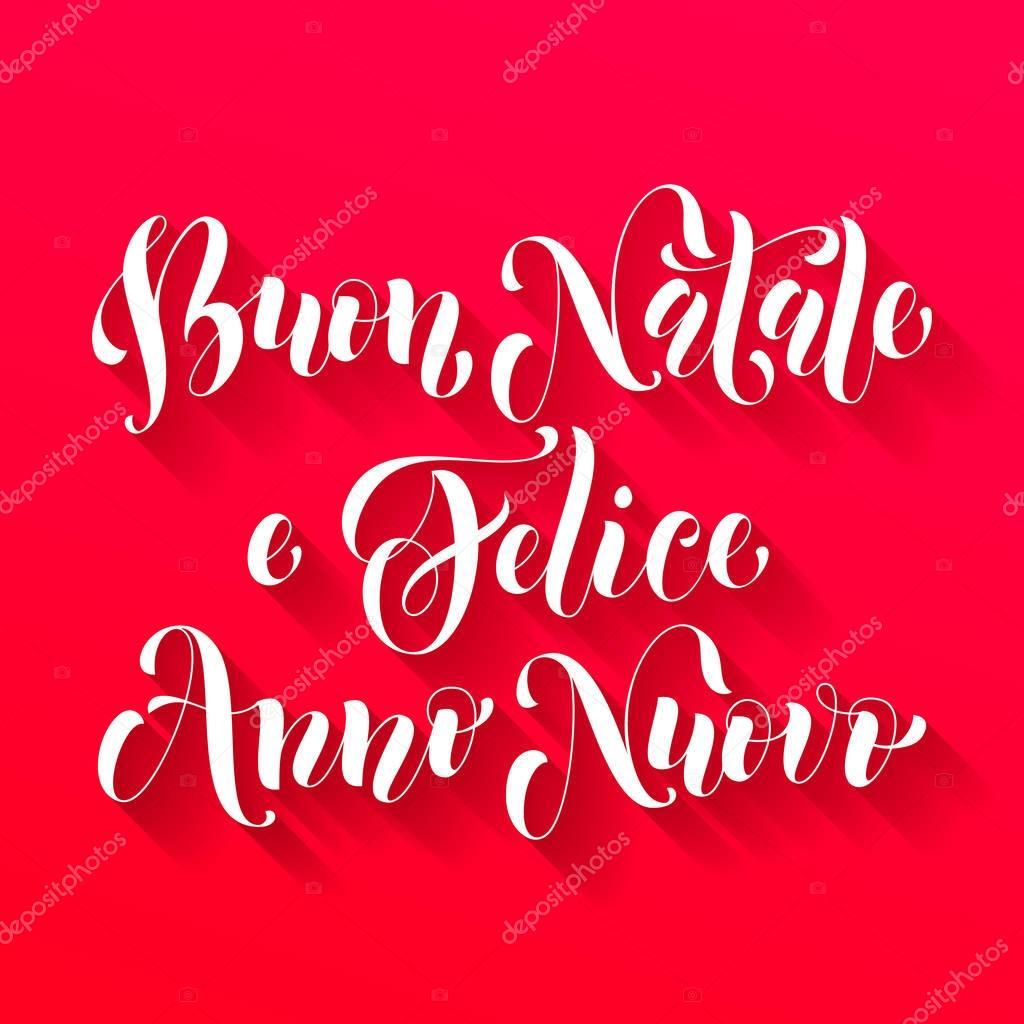 Buon Natale Anno Nuovo.Buon Natale Felice Anno Nuovo Italian Greeting Stock