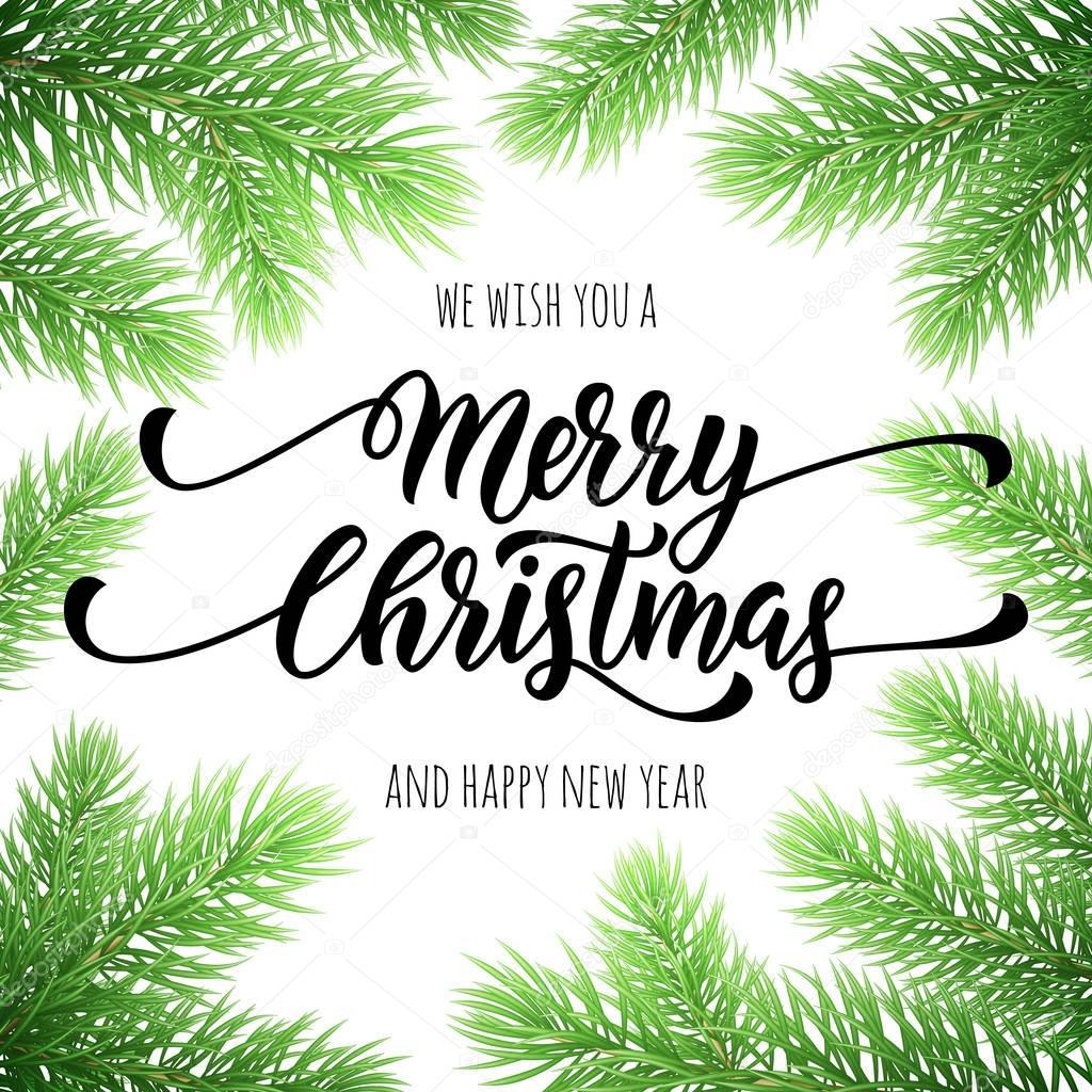Frohe Weihnachten, frohes neues Jahr Grußkarte, poster — Stockvektor ...