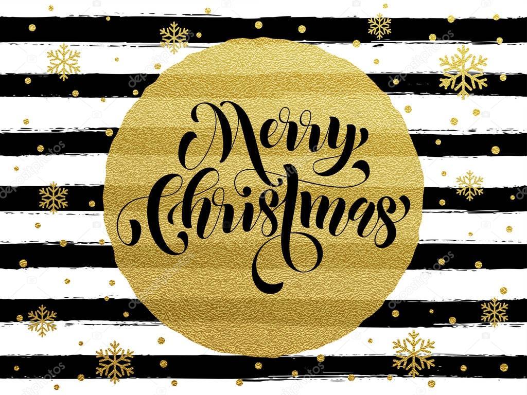 Feliz navidad dorado brillo oro felicitaci n vector de - Postal navidad original ...