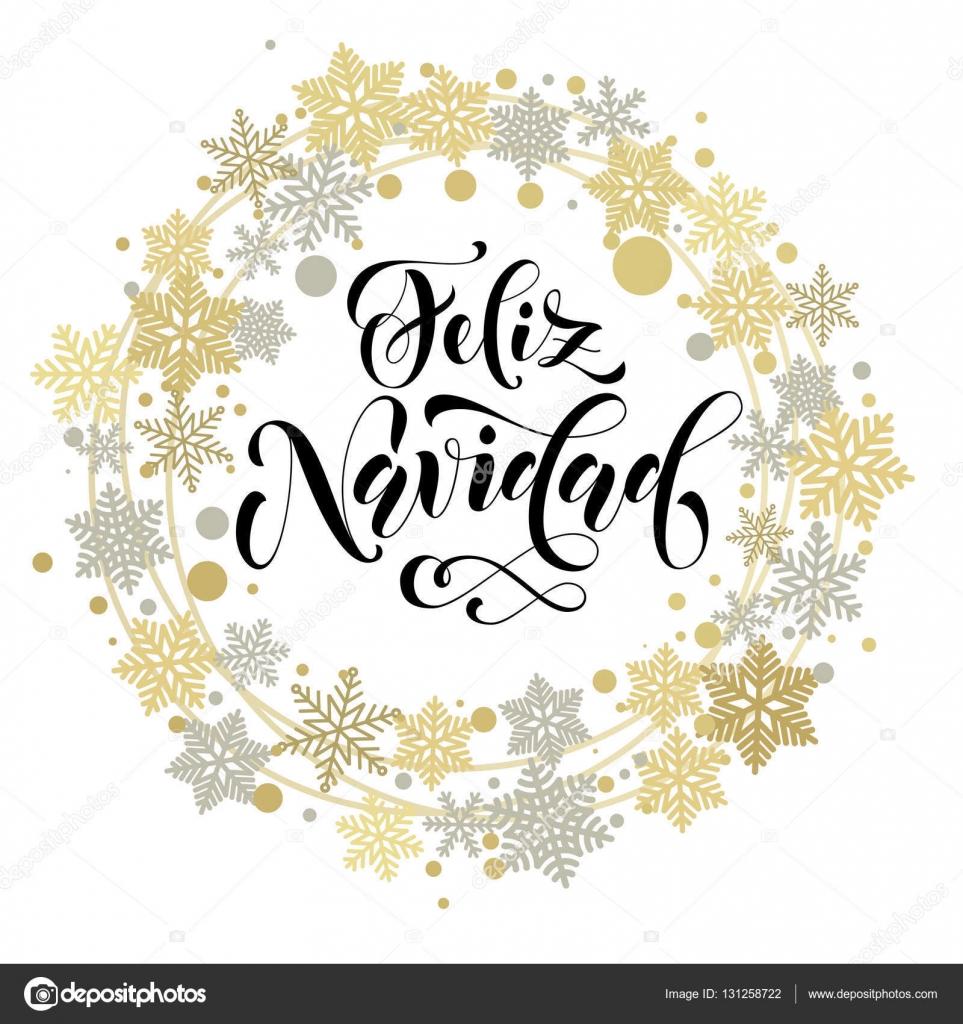 Frohe Weihnachten Text.Frohe Weihnachten Spanisch Text Fur Die Grusskarte
