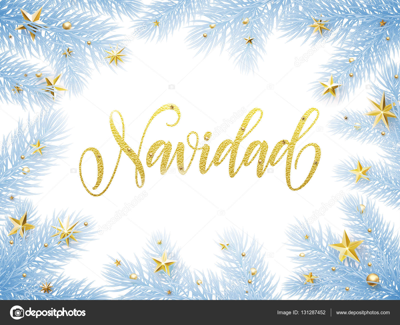 merry christmas in spanish navidad greeting card poster stock vector