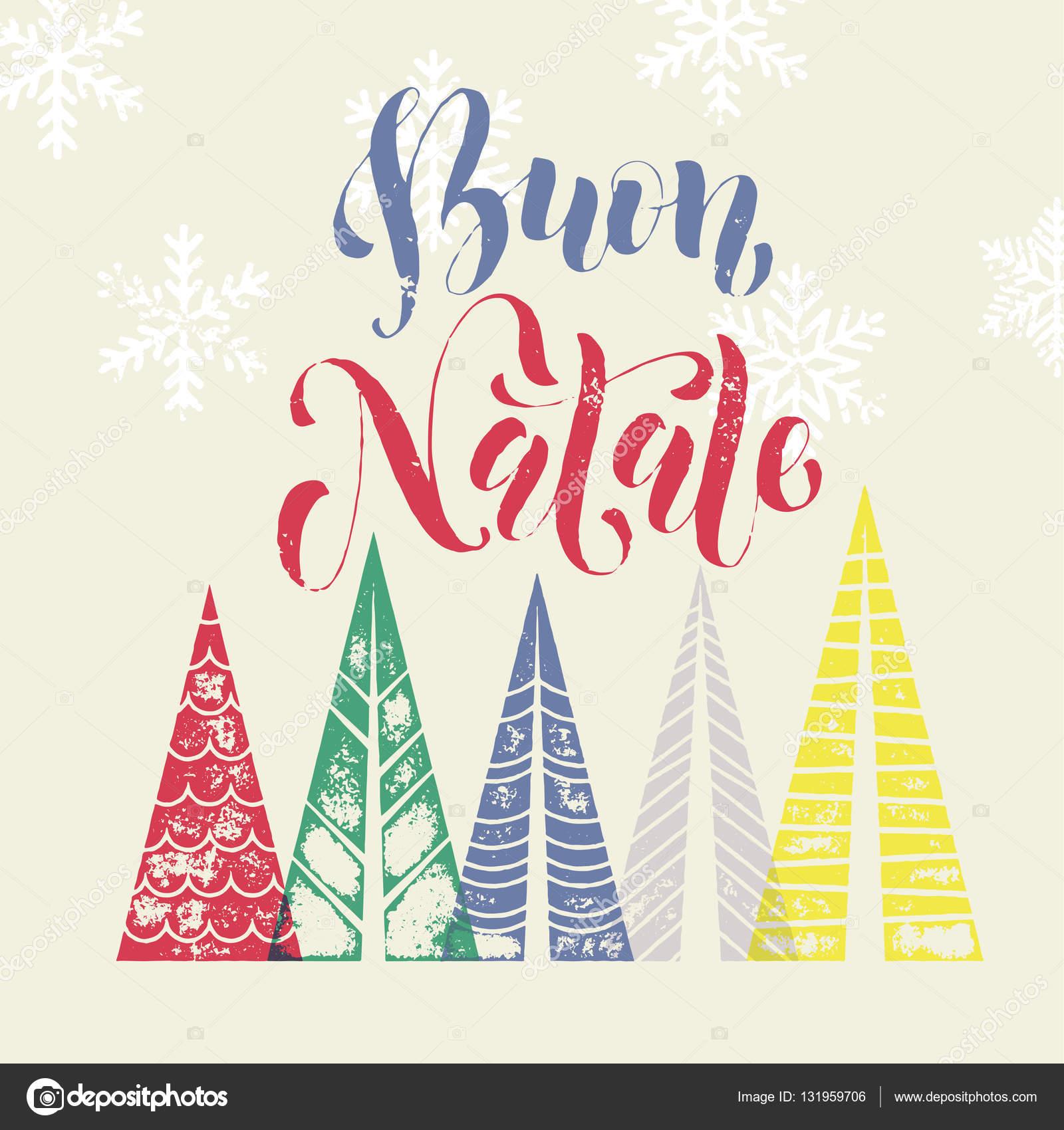 Weihnachten In Italien frohe weihnachten italien moderne kunst grußkarte — stockvektor