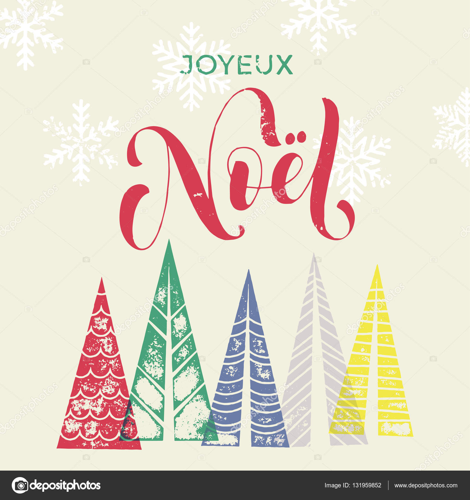 Winter forest background for french christmas greeting card stock winter forest background with christmas trees for french greeting card joyeux noel france merry christmas greeting card text with pine tree forest in m4hsunfo