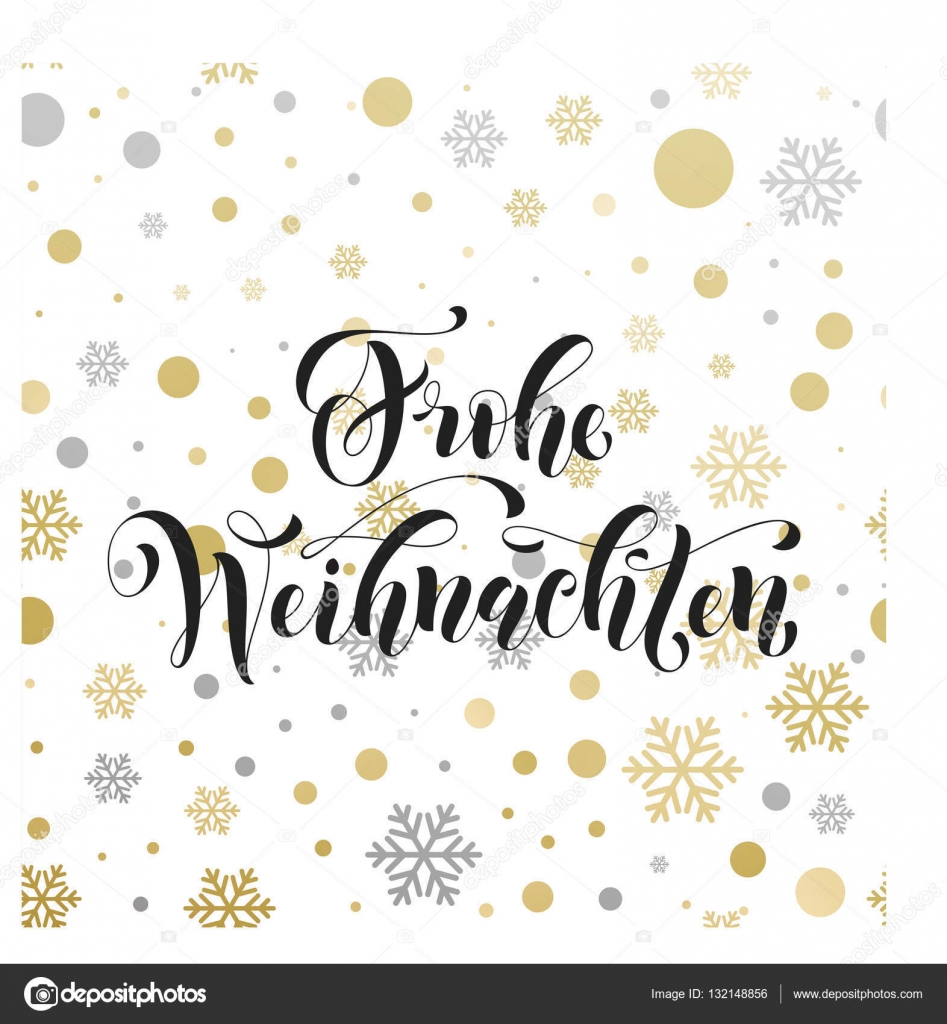 Christmas in germany frohe weihnachten decorative vector greeting christmas in germany frohe weihnachten decorative vector greeting german christmas snow decoration background pattern of winter golden and silver snowflake m4hsunfo