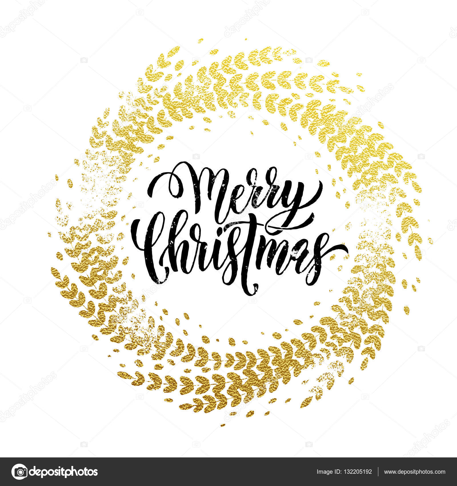 Frohe Weihnachten Glitzer.Glitzer Dekoration Goldenen Kranz Frohe Weihnachten Grußkarte