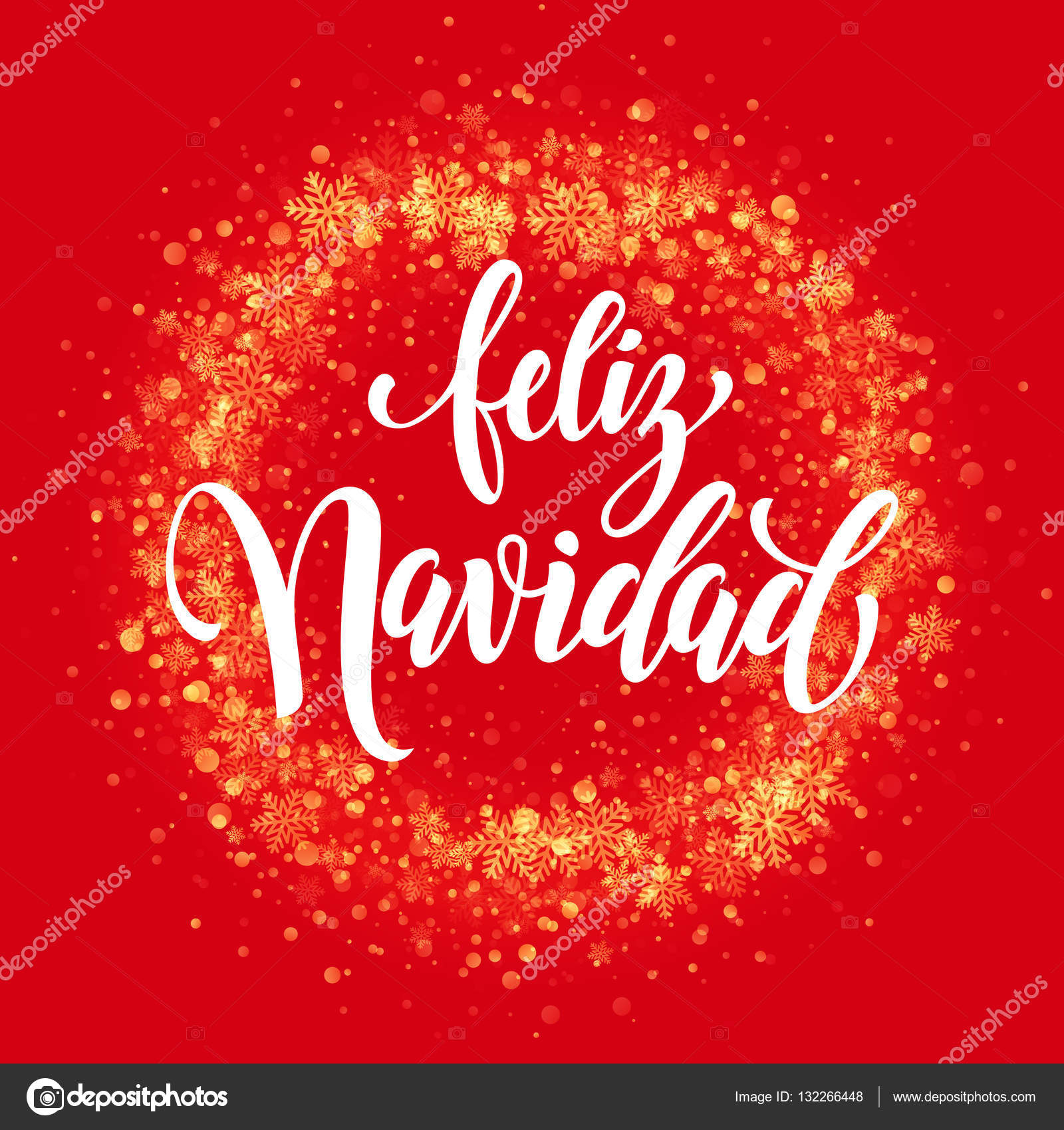 Spanish Merry Christmas Feliz Navidad Glitter Snowflake Wreath