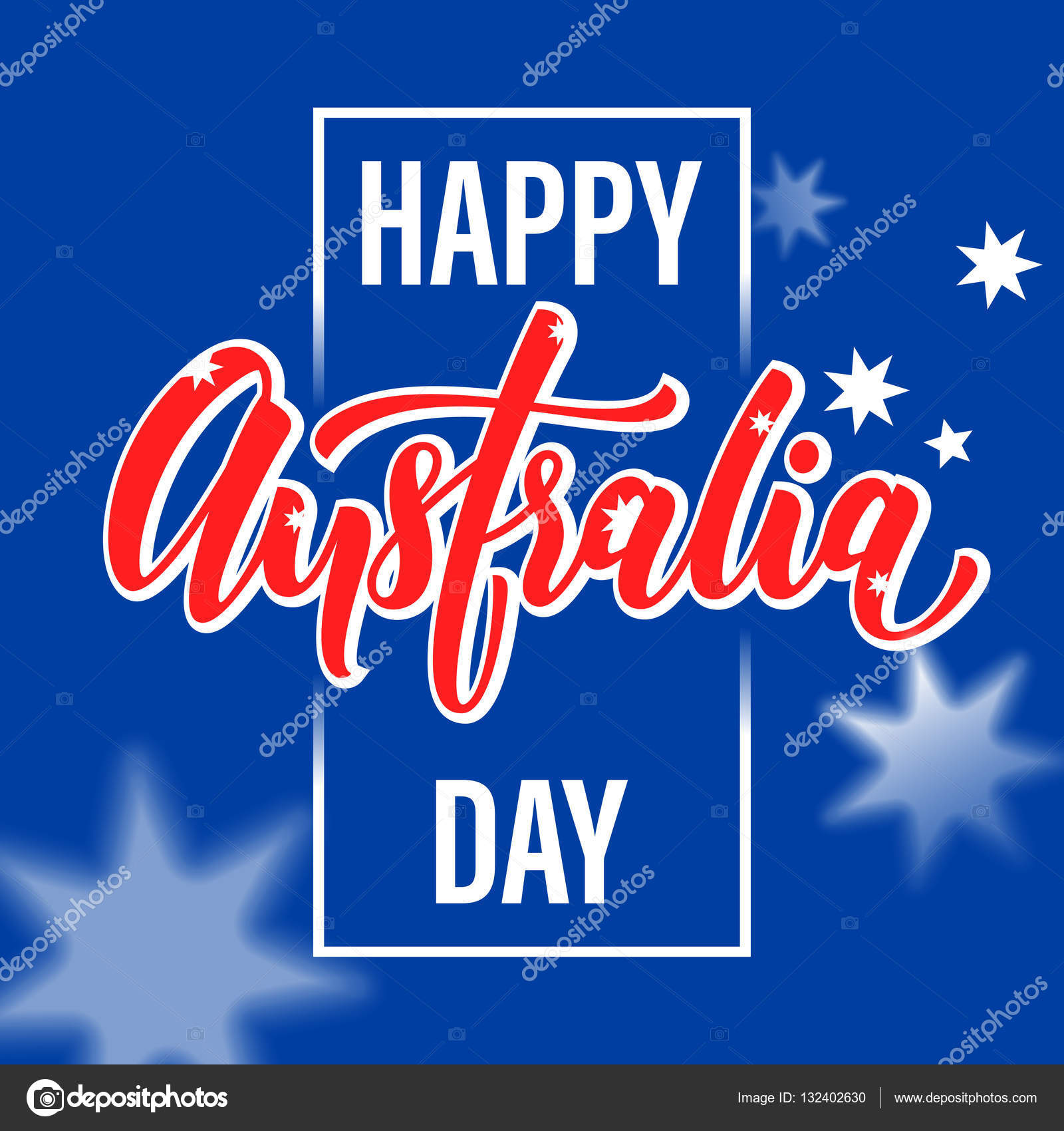 Happy australia day poster australian flag vector greeting stock happy australia day poster australian flag vector greeting stock vector m4hsunfo