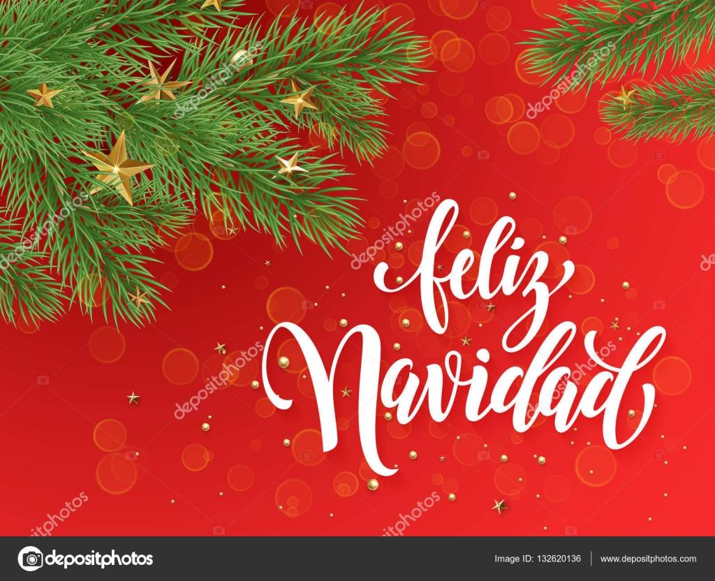 Spanish merry christmas feliz navidad greeting card decoration red spanish merry christmas feliz navidad greeting card decoration red background stock vector m4hsunfo