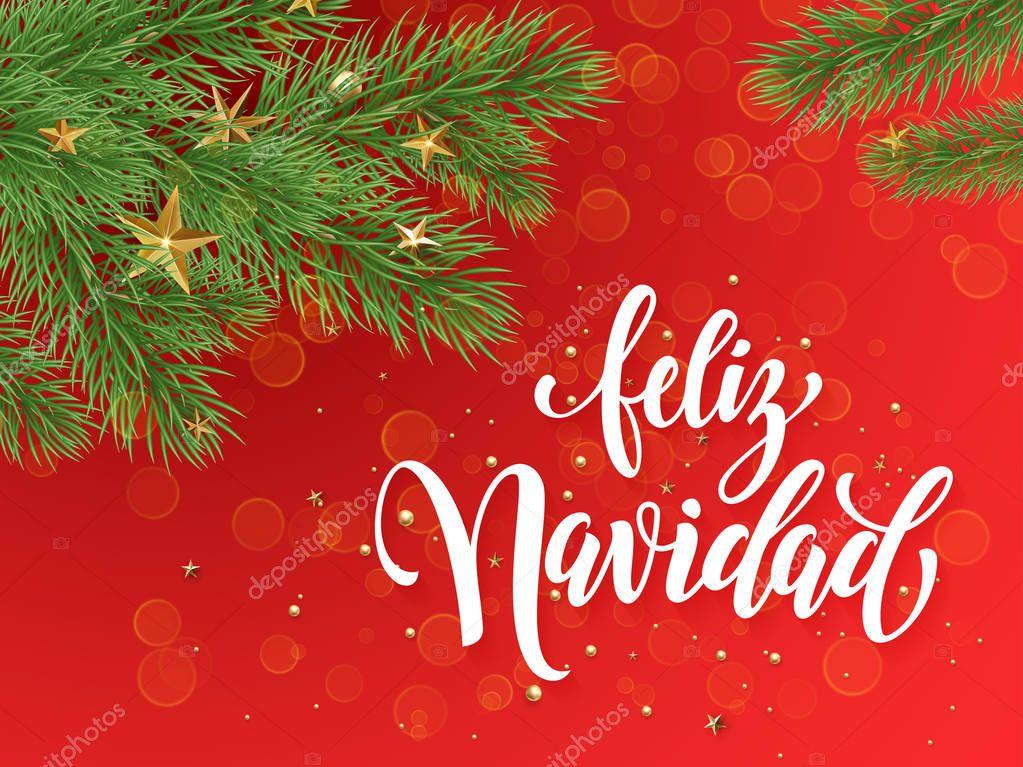 Feliz navidad en español descargar | Fondo de decoración ...