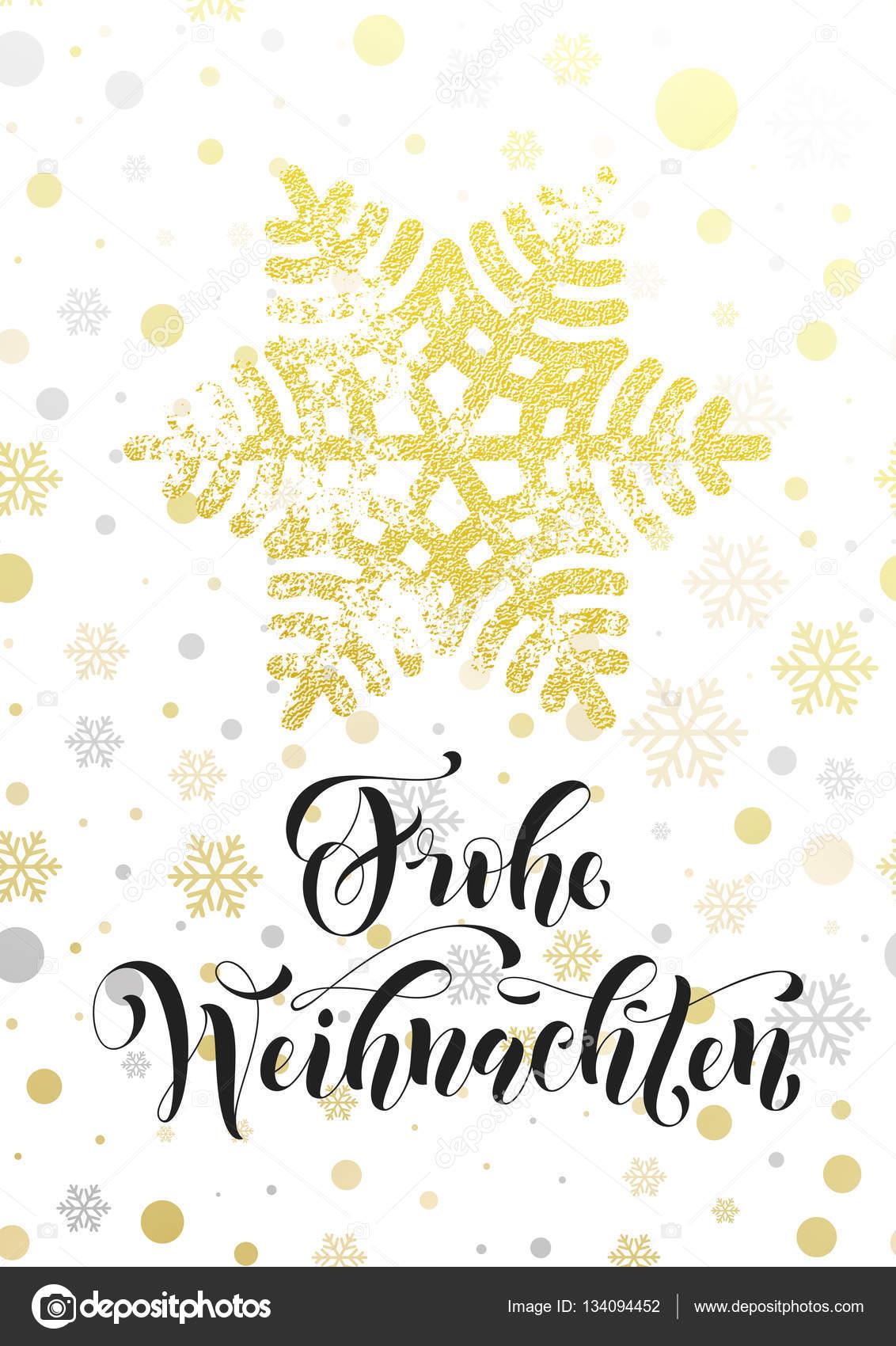 Frohe Weihnachten Glitzer.Merry Christmas German Frohe Weihnachten Poster Golden Glitter