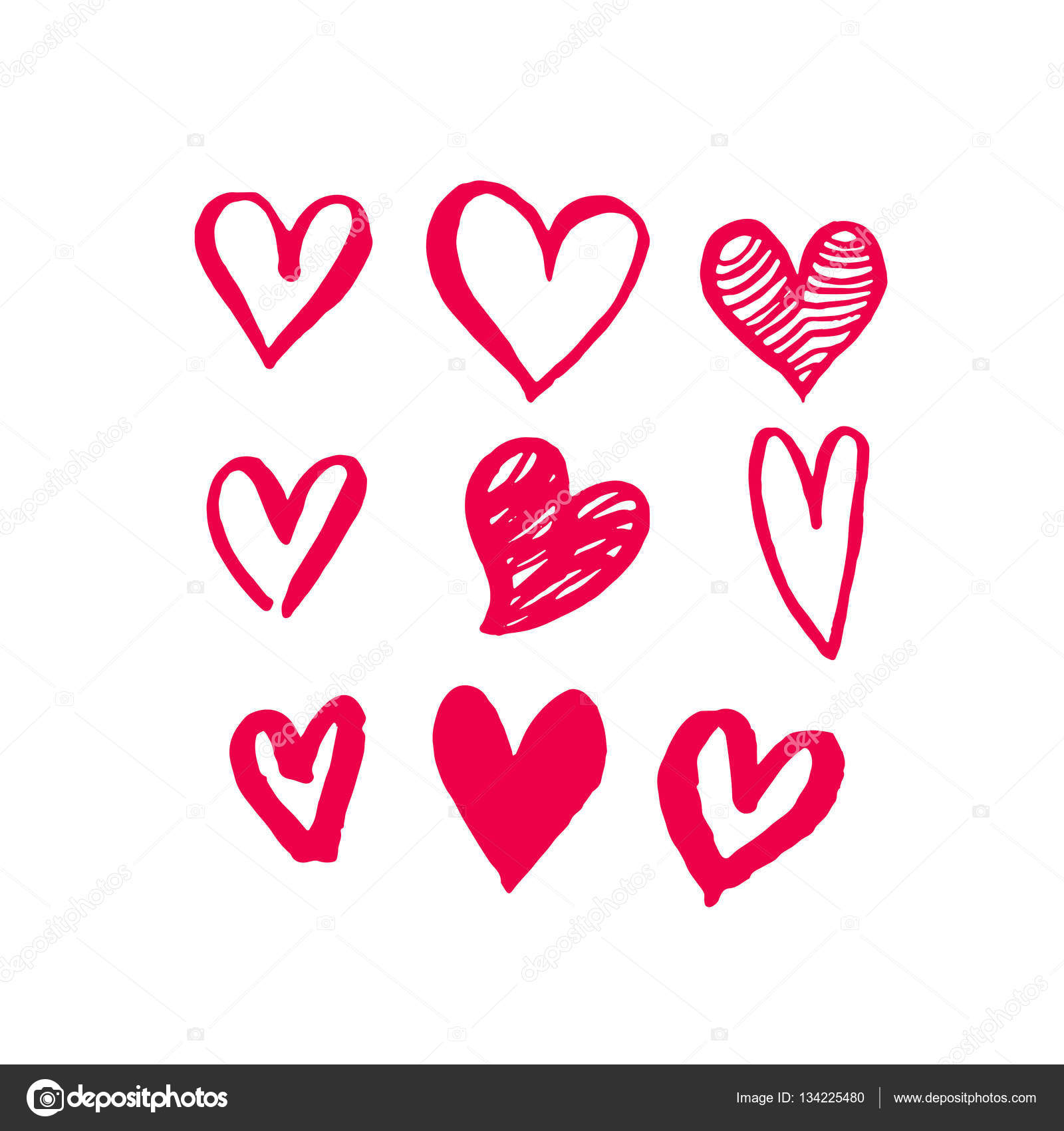 valentine day hearts sketch icons pattern vector art u2014 stock