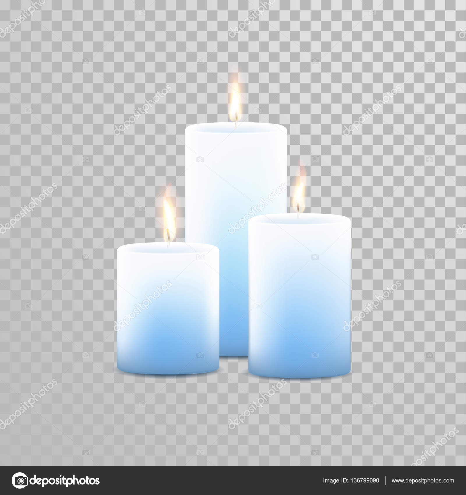 Candles. Fire Animation on Transparent Background — Stock Vector ... for Blue Candle White Background  61obs