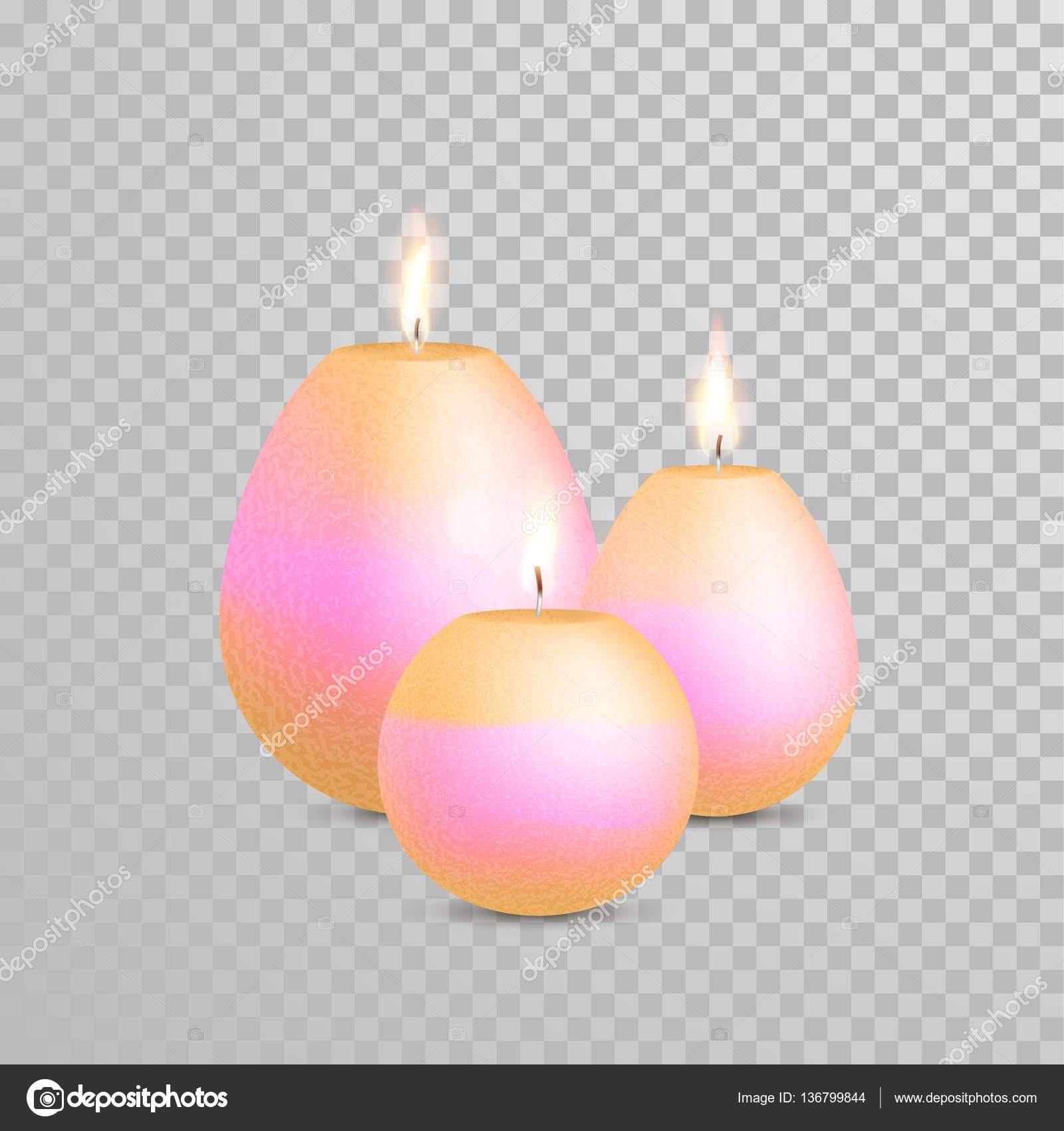 Deko Kerze Gold Perle Farbe Vektor Stockvektor Ronedale