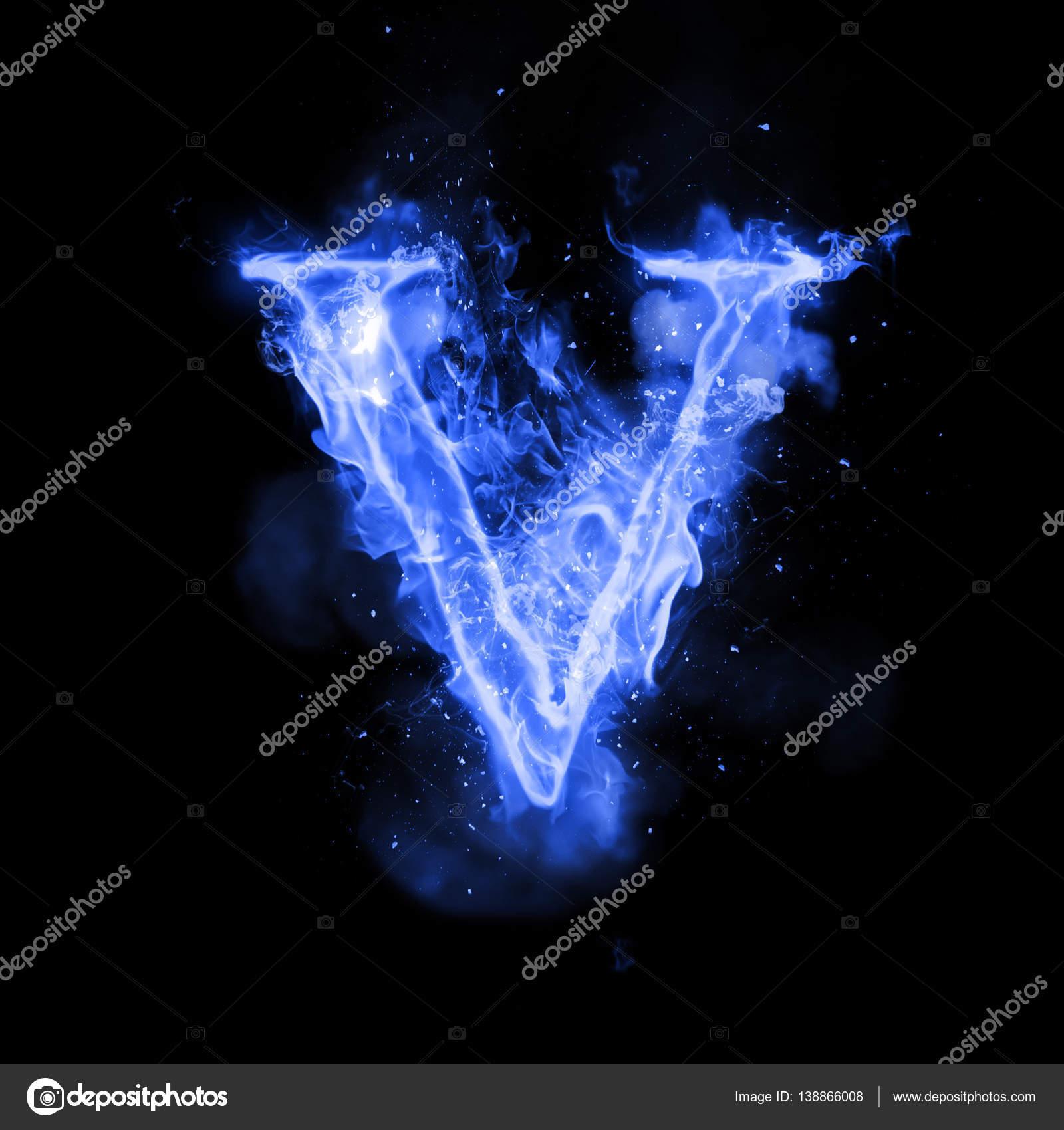 Fire Letter V Of Burning Flame Light Stock Photo C Ronedale 138866008