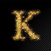 Fényképek Arany Csillogó betű K-fekete háttér