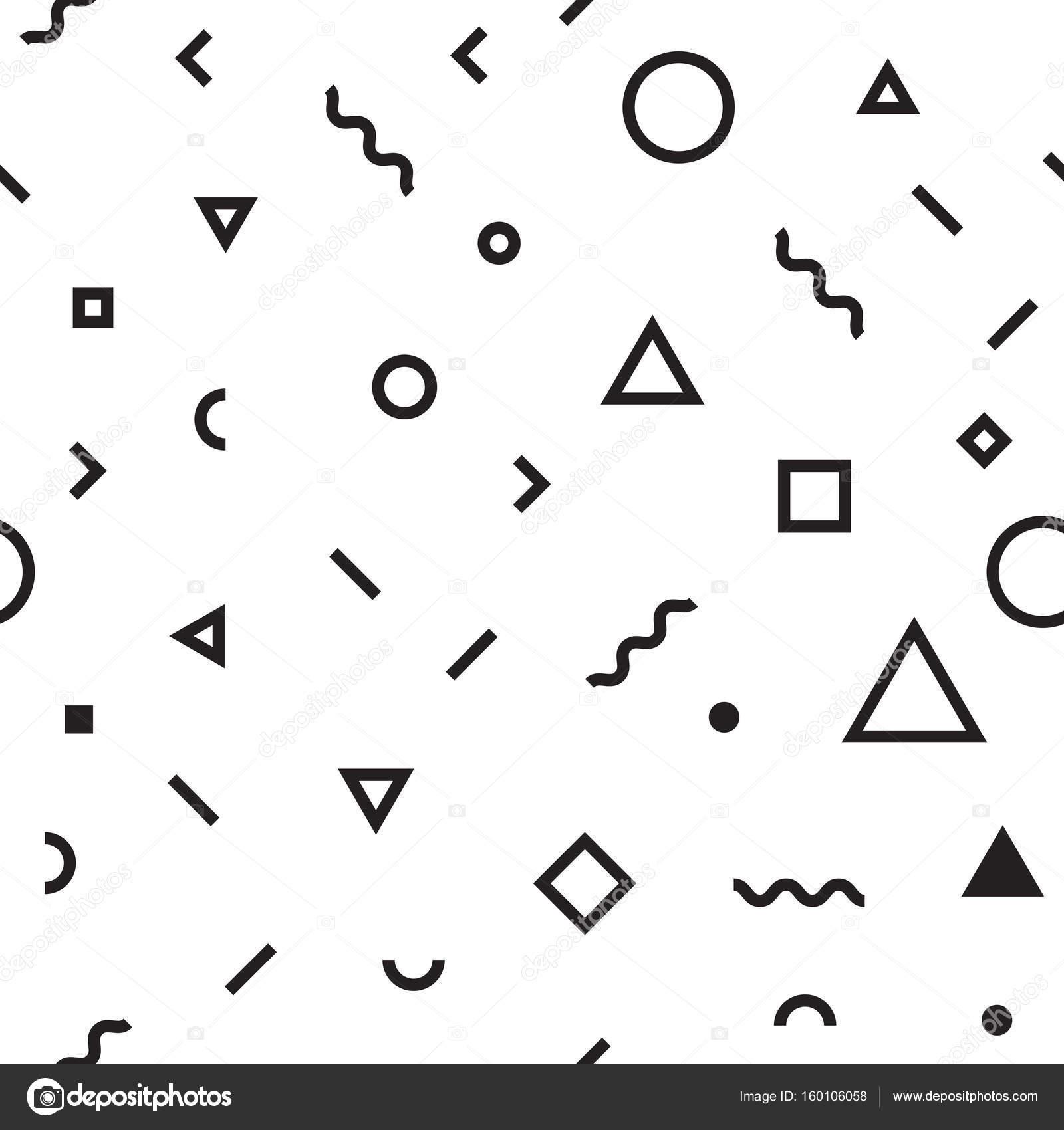 Seamless Pattern Abstract Geometric Shape Background