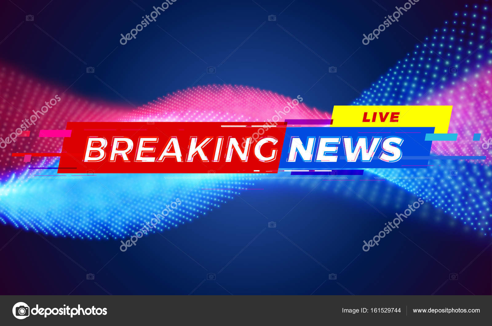 Breaking News Television Live Tv Screen Bar Background Vector Modern