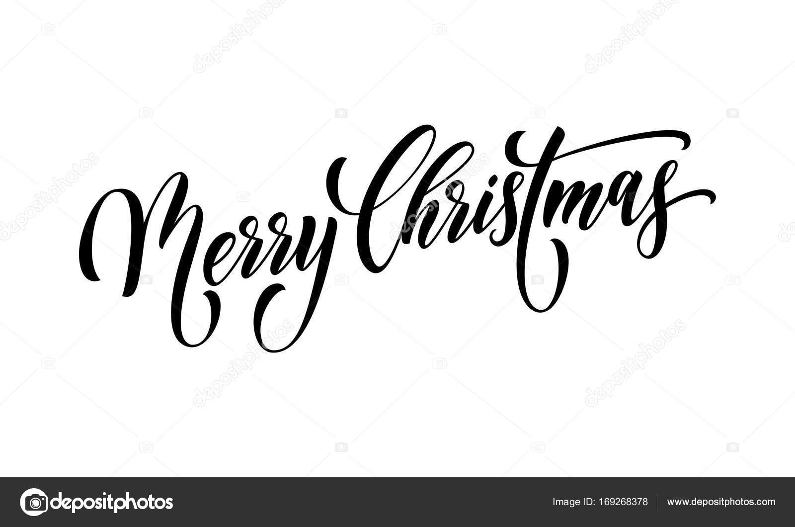 Frohe Weihnachten Zitat Grußkarte Kalligraphie Vektor Schriftart ...