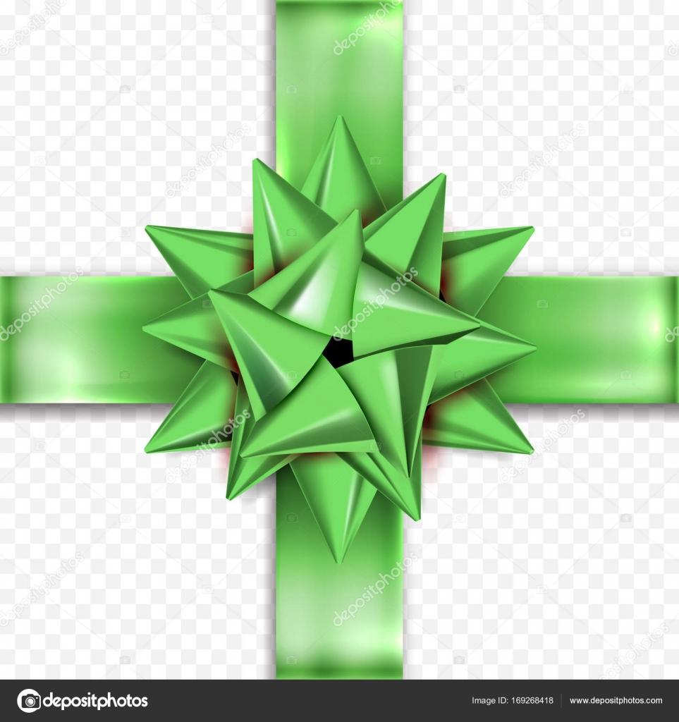 gift bow green ribbon vector design birthday new year christmas