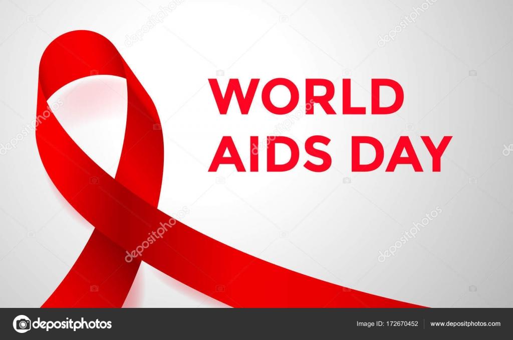 World Aids Day Red Ribbon 1 December Awareness Solidarity Logo