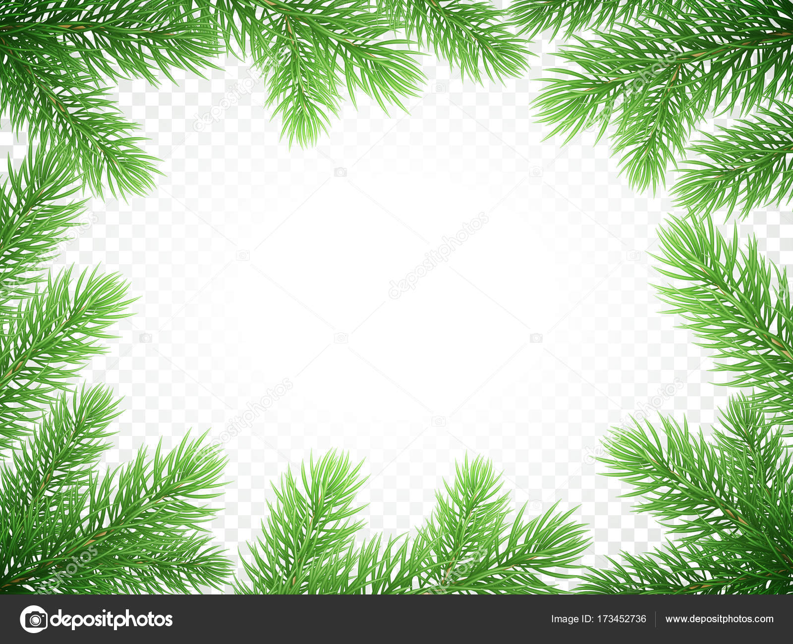 christmas holiday greeting card background template of new year fir or green pine tree branch wreath frame vector christmas or new year banner decoration