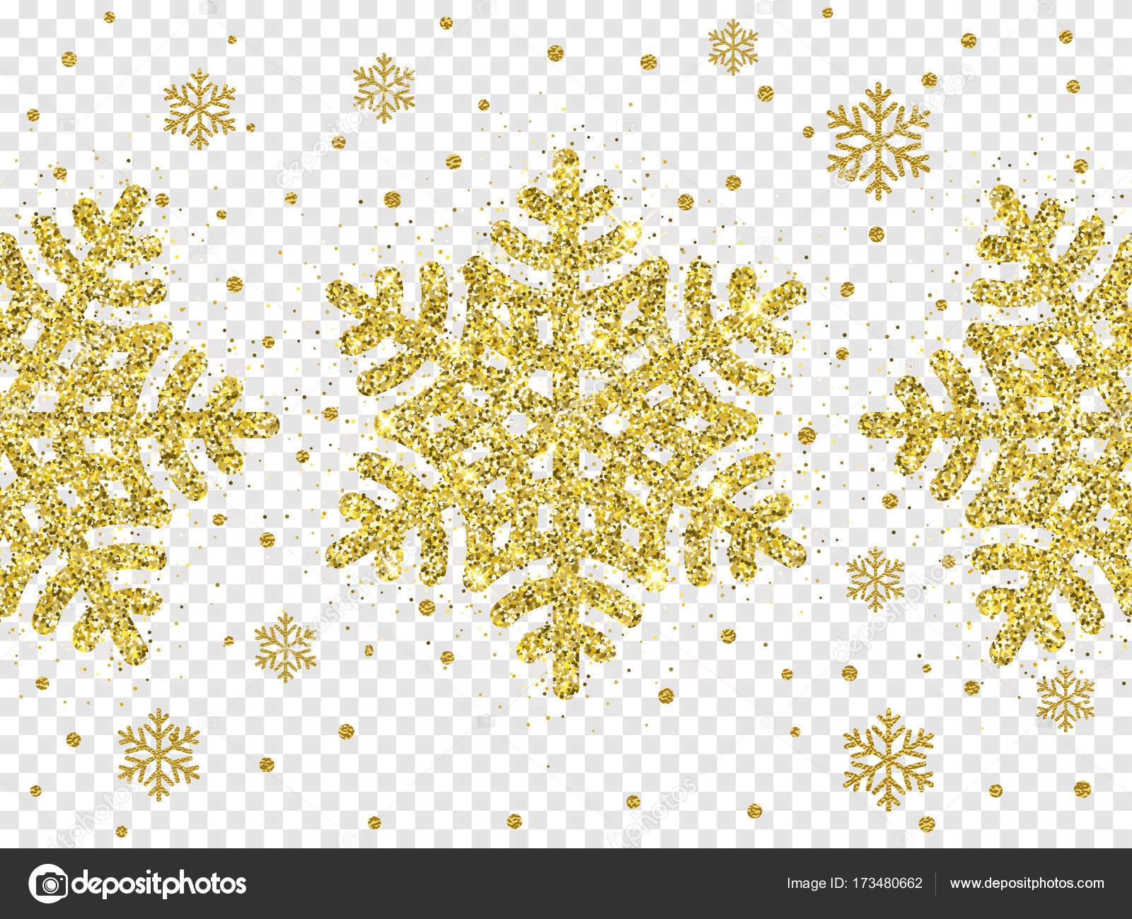 Sfondo Bianco Brillantinato Oro Di Vettore Di Natale Fiocco Di