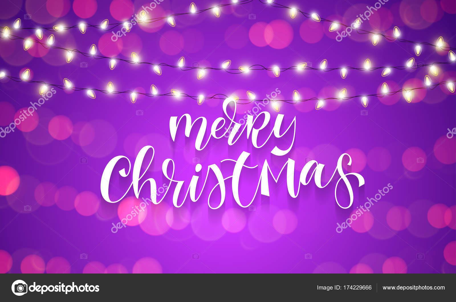 Weihnachtsbeleuchtung Kranz.Frohe Weihnachten Grußkarten Kalligraphie Und Weihnachtsbeleuchtung