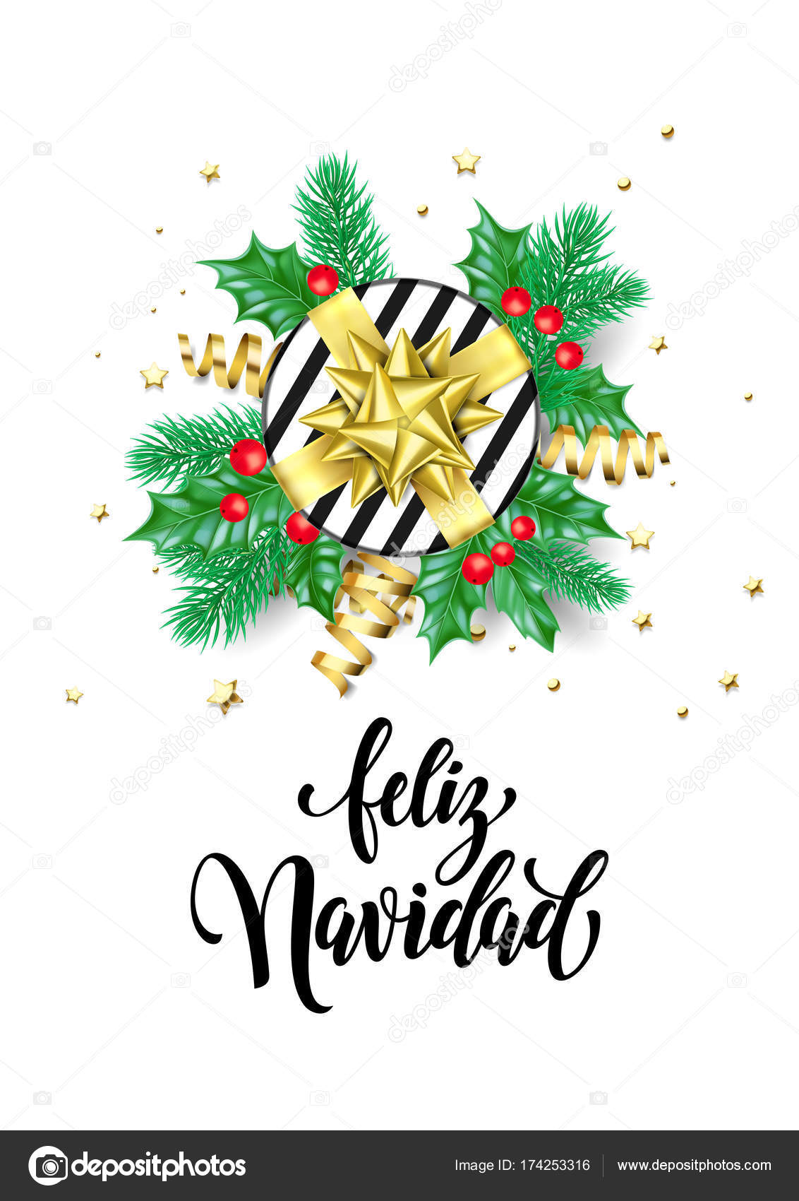 Christmas In Spanish.Merry Christmas Spanish Feliz Navidad Trendy Quote