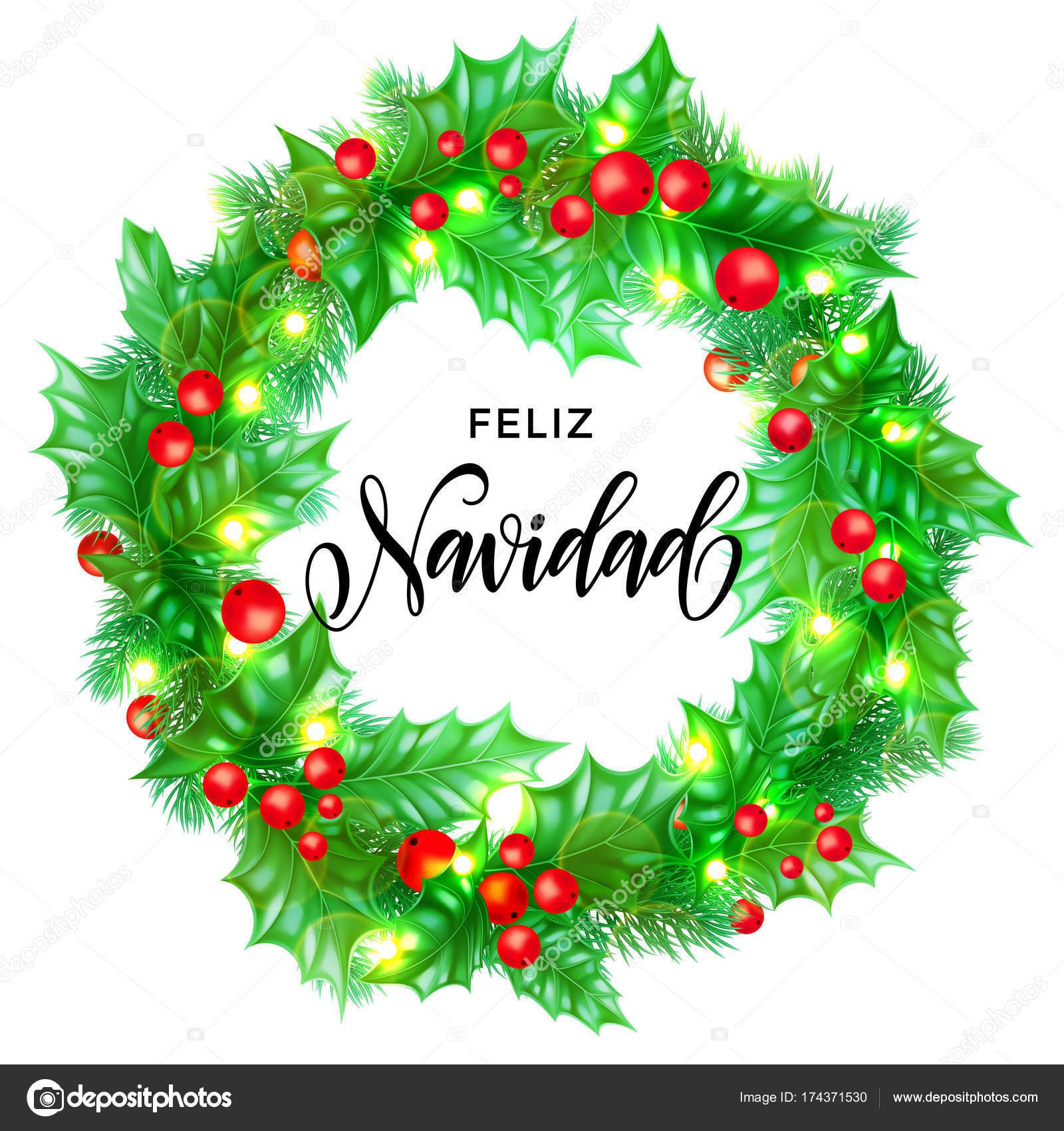 feliz navidad espagnol joyeux no l main dessin e. Black Bedroom Furniture Sets. Home Design Ideas
