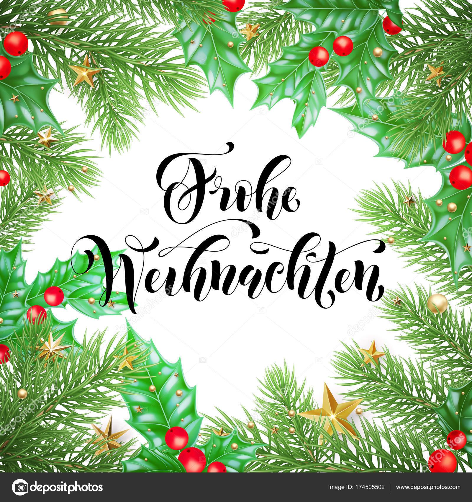 Frohe Weihnachten German Merry