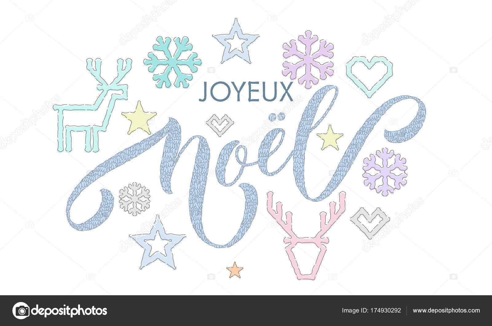 Joyeux noel french merry christmas embroidery font and knitted joyeux noel french merry christmas embroidery font and knitted decoration for holiday greeting card design m4hsunfo