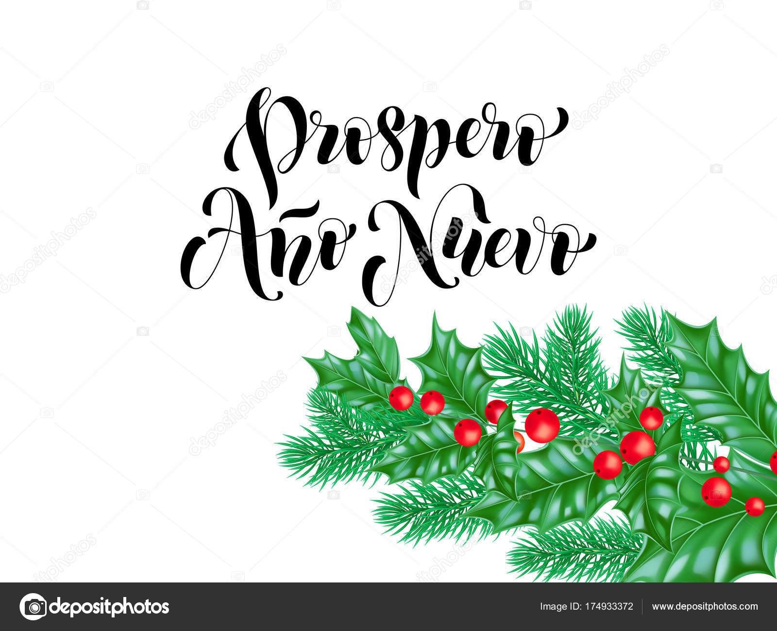 Prospero ano nuevo spanish happy new year holiday hand drawn prospero ano nuevo spanish happy new year holiday hand drawn calligraphy lettering greeting card background template m4hsunfo