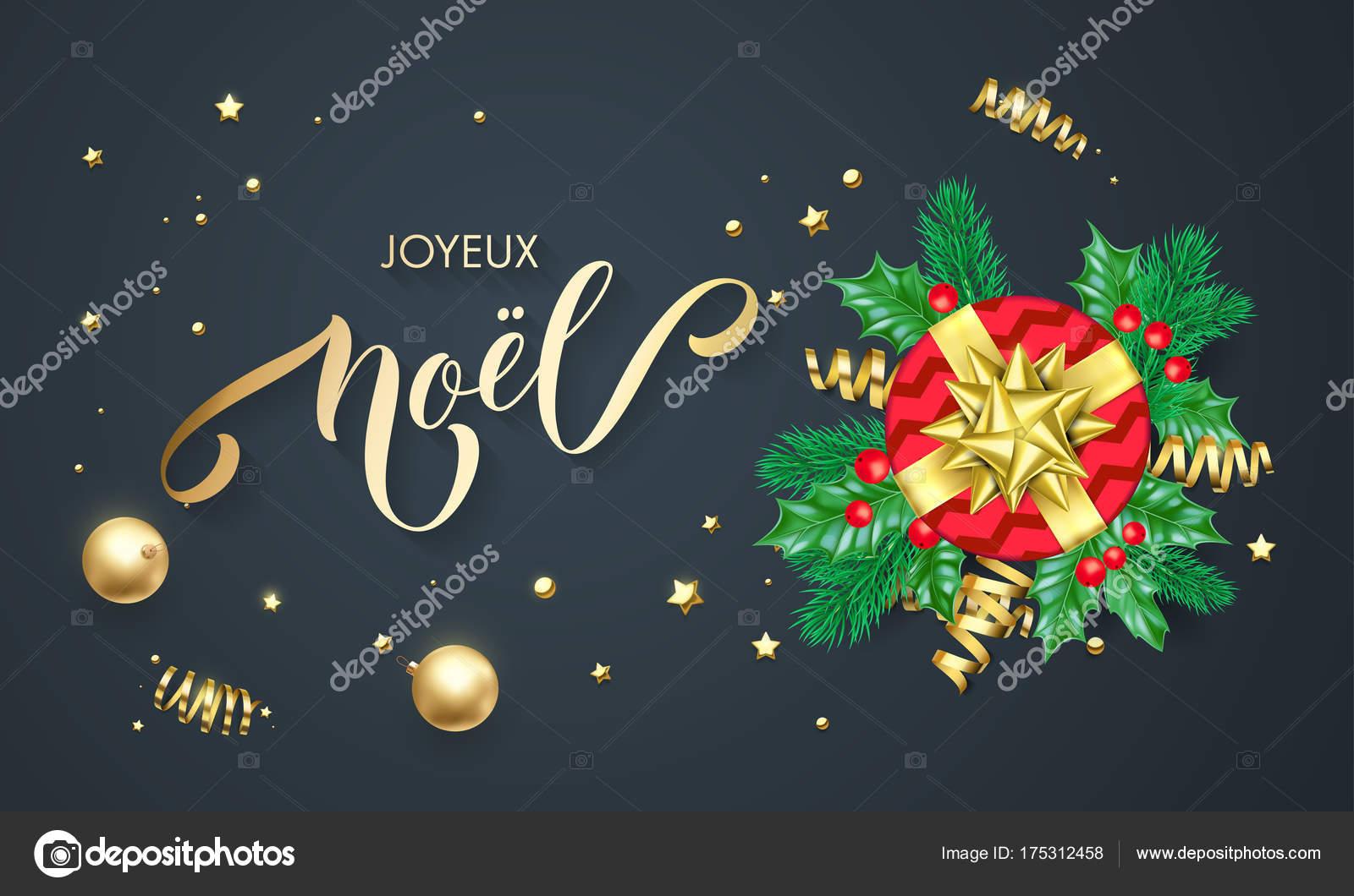 Auguri Di Buon Natale Francese.Vettore Buon Anno In Francese Joyeux Noel Francese Buon