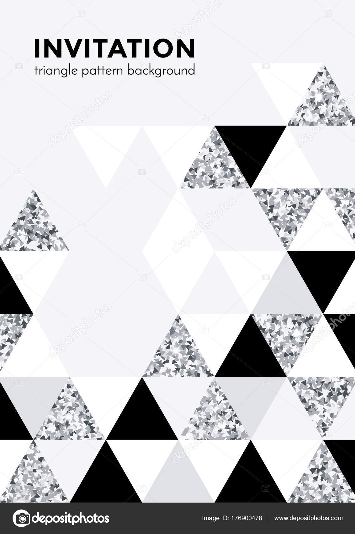 Silver triangle pattern background for invitation card or christmas silver triangle pattern background for invitation card or christmas party poster design template of triangle modern stopboris Image collections