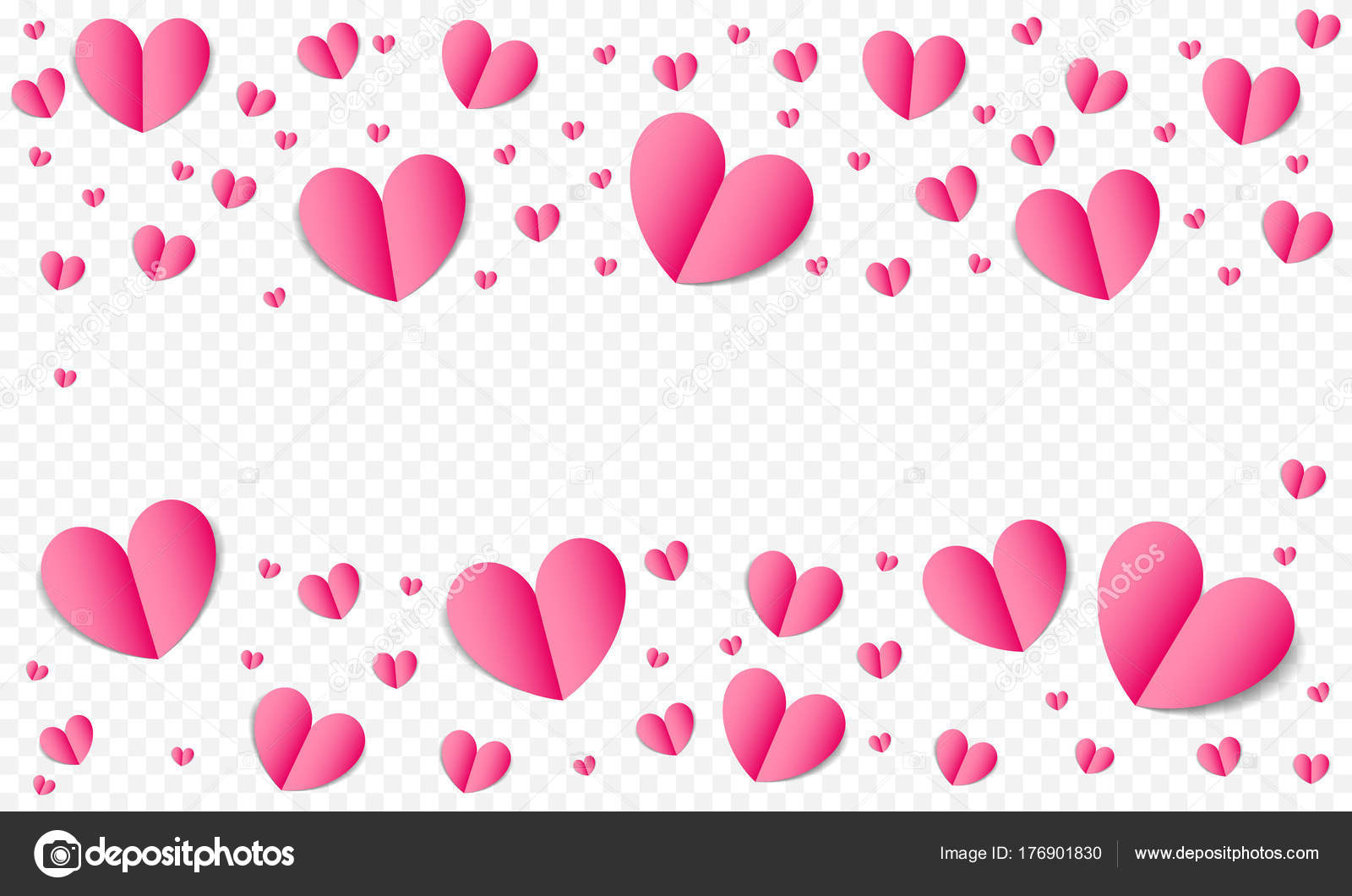 Hearts Pattern Background For Valentines Day Save The Date Wedding