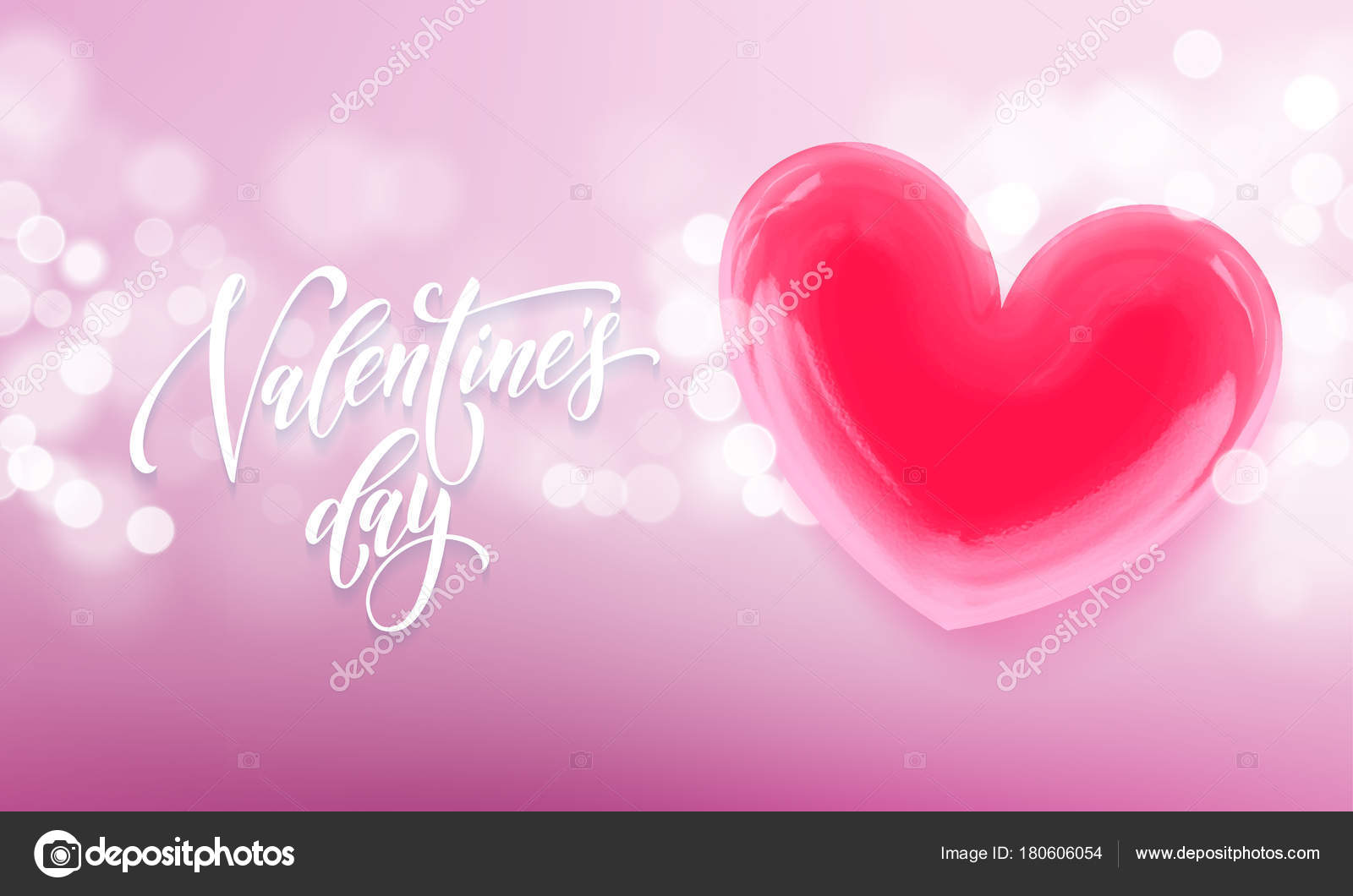 Valentines day greeting card of valentine red crystal heart on pink valentines day greeting card of valentine red crystal heart on pink light shine background vector m4hsunfo