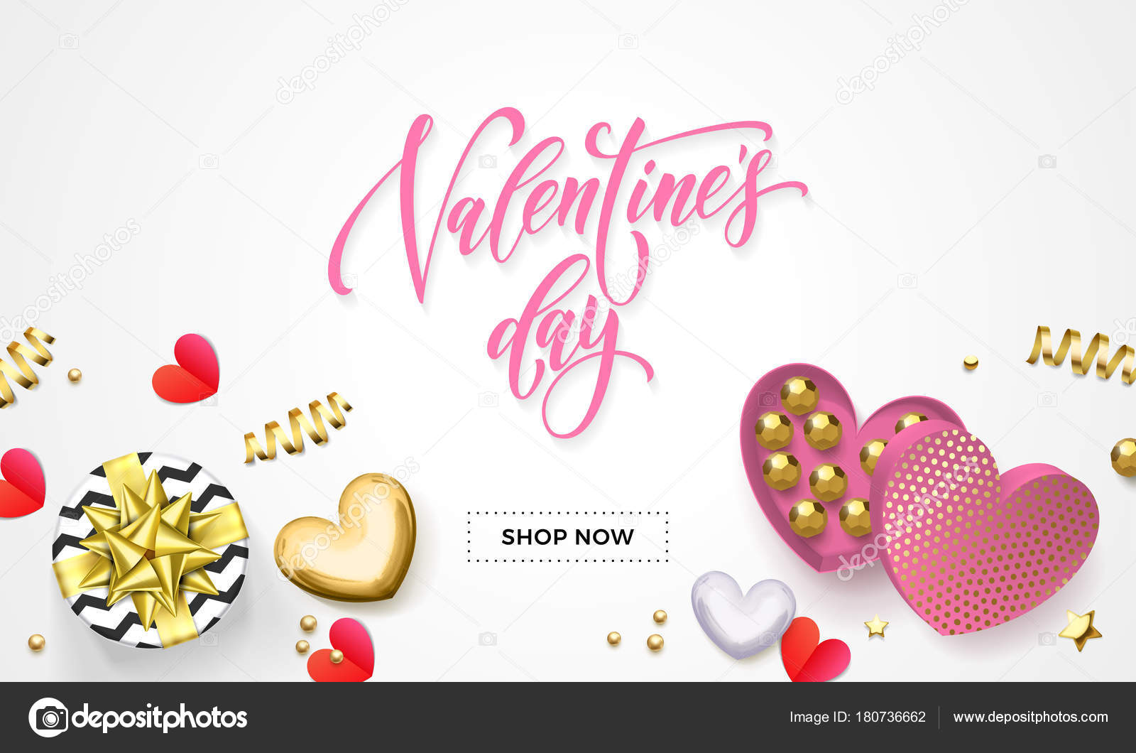 Día de San Valentín banner de web de venta para tiendas de ...