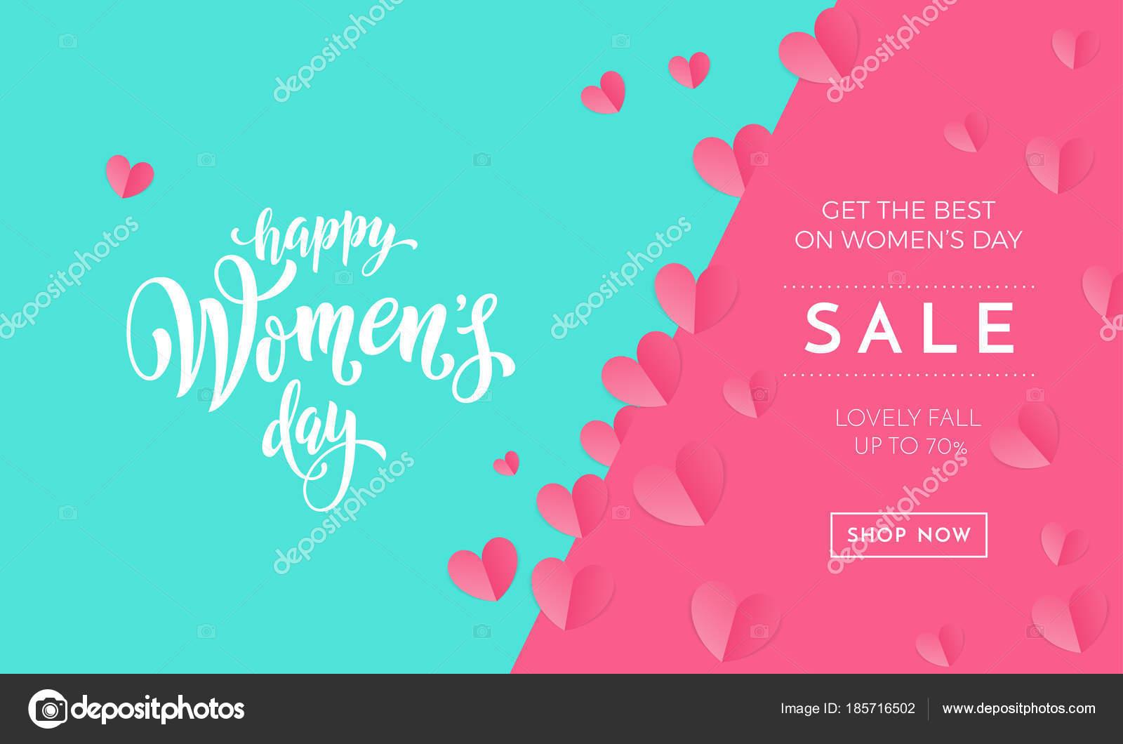 Frauen Tag Verkaufsposter Oder Banner Für Mutters Tag Urlaub Shop