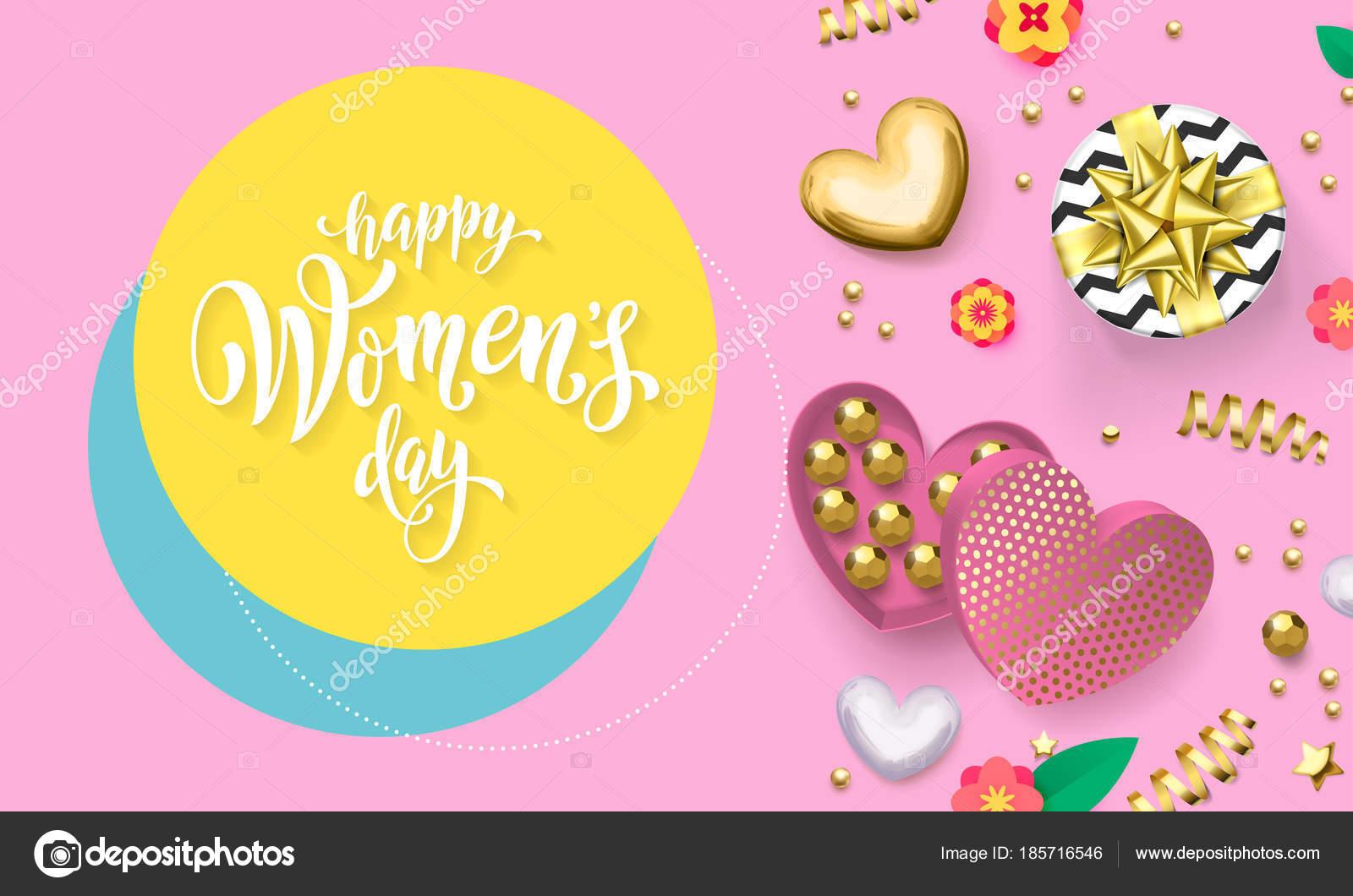 Tarjeta de felicitación día de las mujeres de decoración de la ...