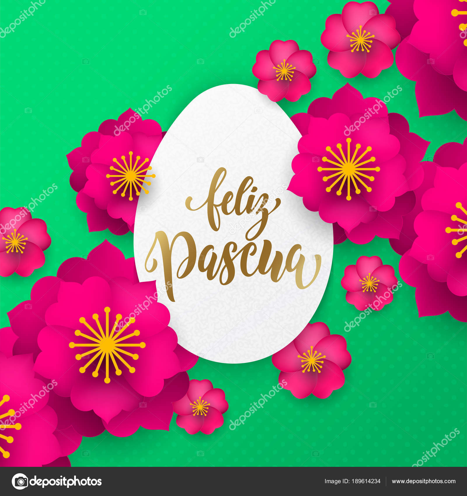 Spanish happy easter greeting card of egg paper cut and flowers spanish happy easter greeting card of egg paper cut and flowers pattern for easter hunt holiday m4hsunfo