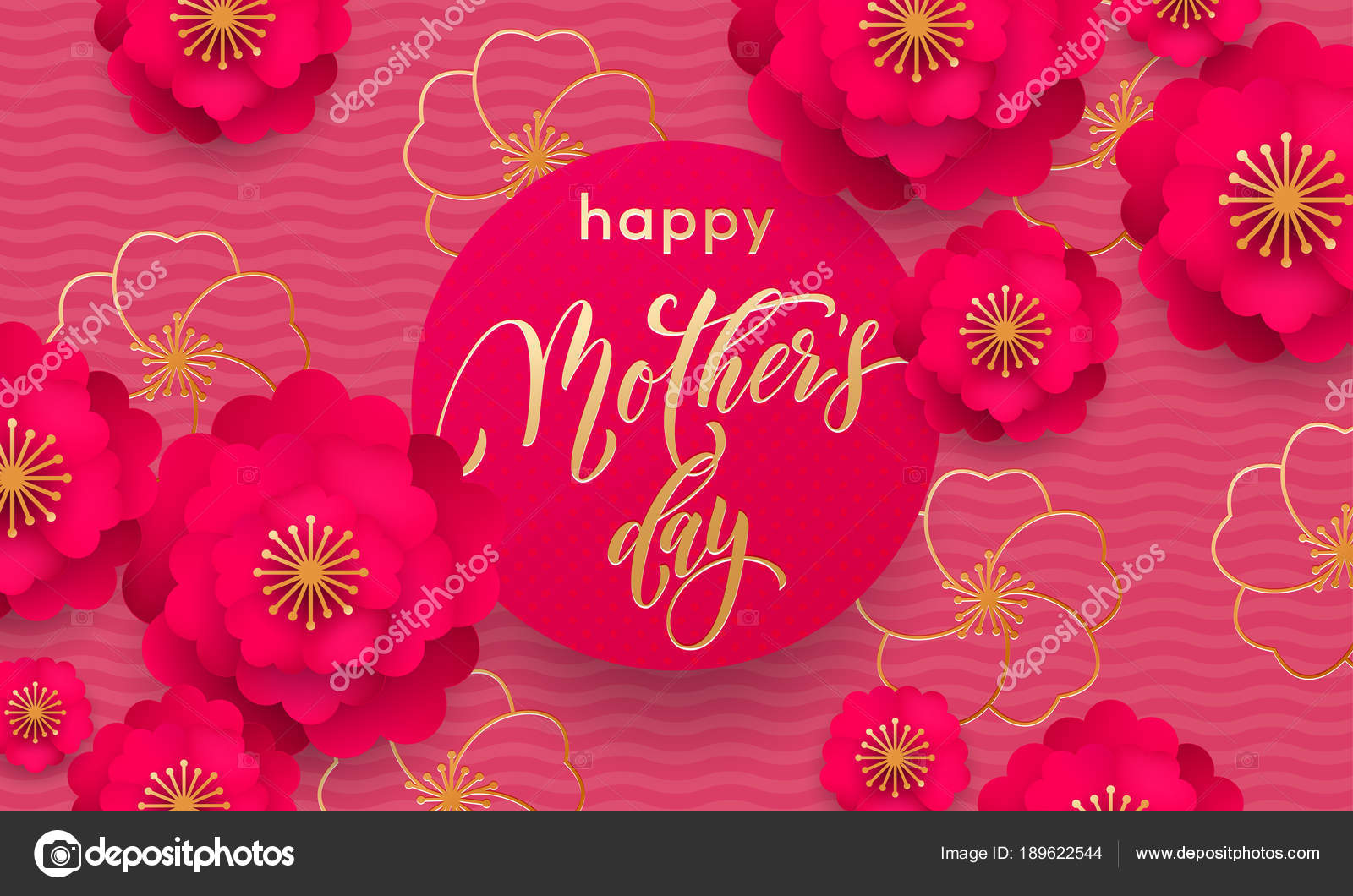Mothers day greeting card or red flower in gold glitter pattern mothers day greeting card or red flower in gold glitter pattern poster and golden text design template for springtime seasonal mother day holiday design m4hsunfo