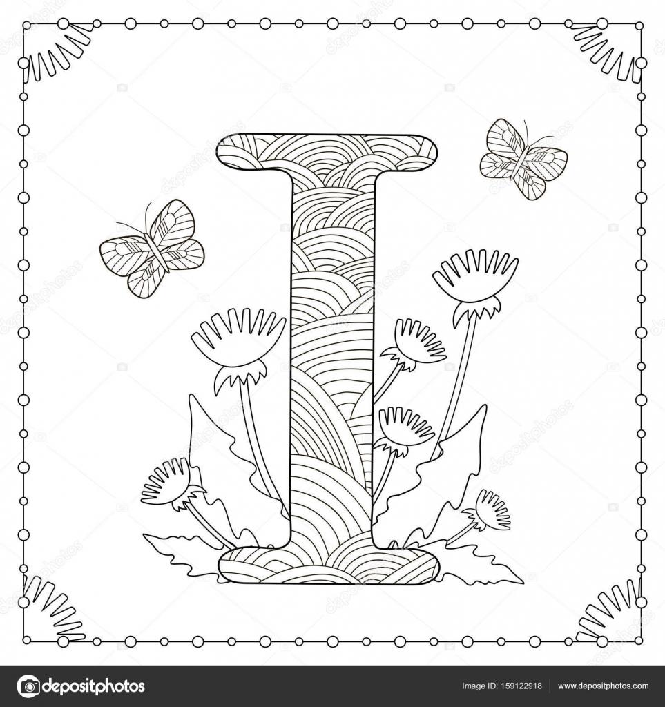 Coloriage Alphabet Fleur.Coloriage Alphabet Image Vectorielle Yasyazagoruiko C 159122918