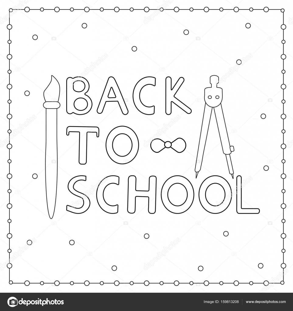 Zurück zu Schule Hintergrund von Hand gezeichneten Text, Pinsel und ...
